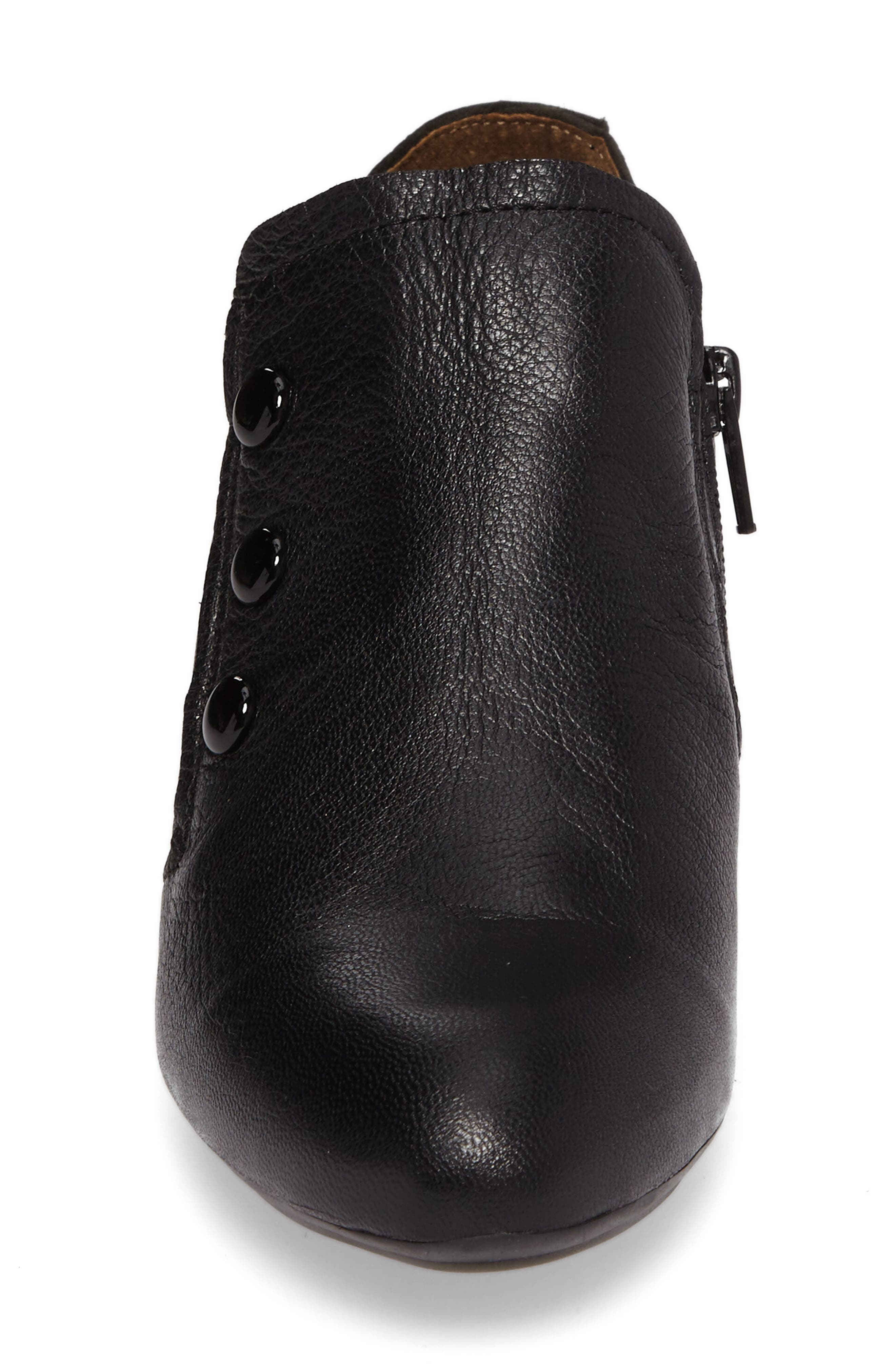 Baff Kitten Heel Pump,                             Alternate thumbnail 4, color,                             Black Leather