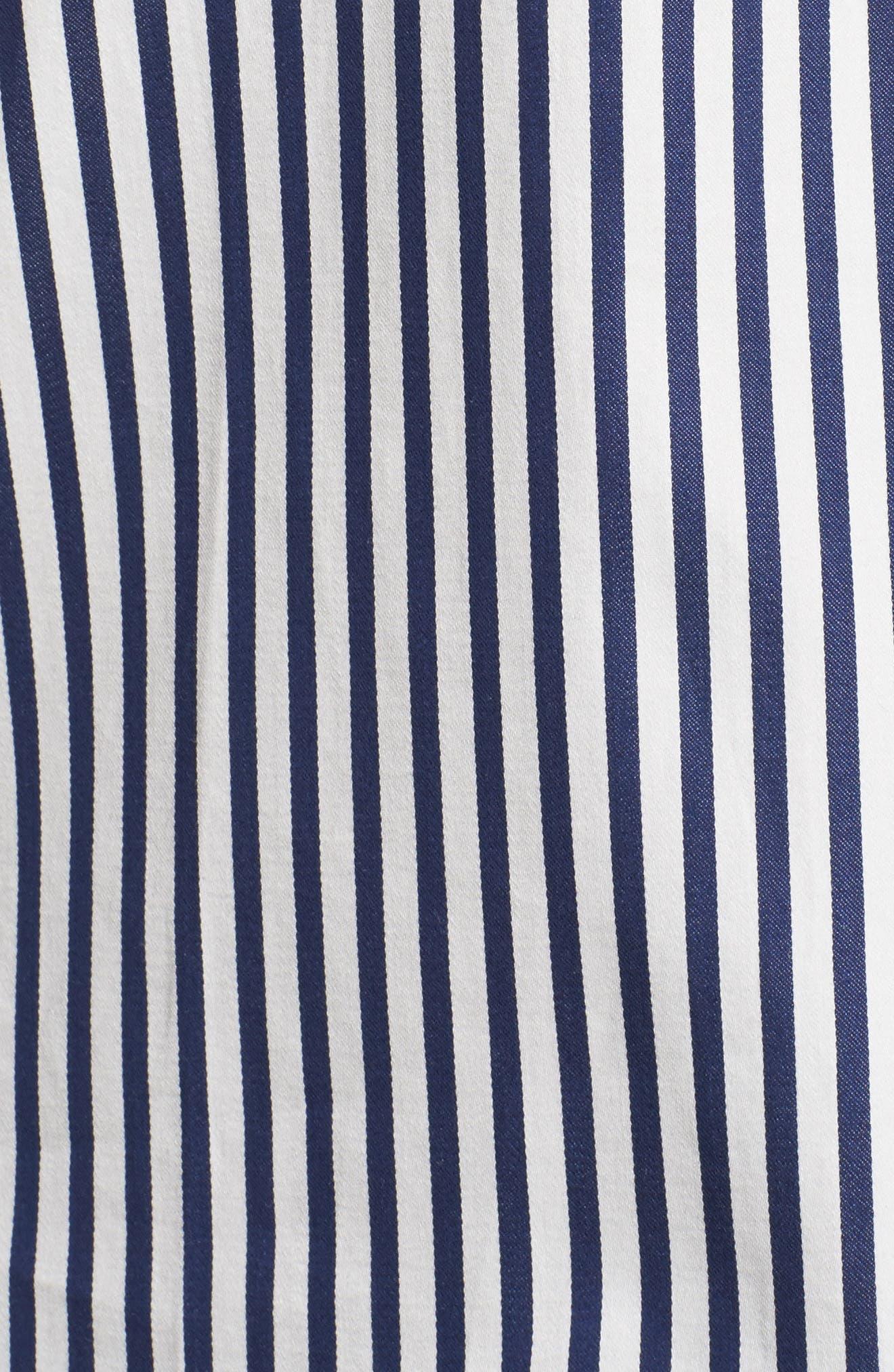 stripe pajamas,                             Alternate thumbnail 5, color,                             Navy Stripe