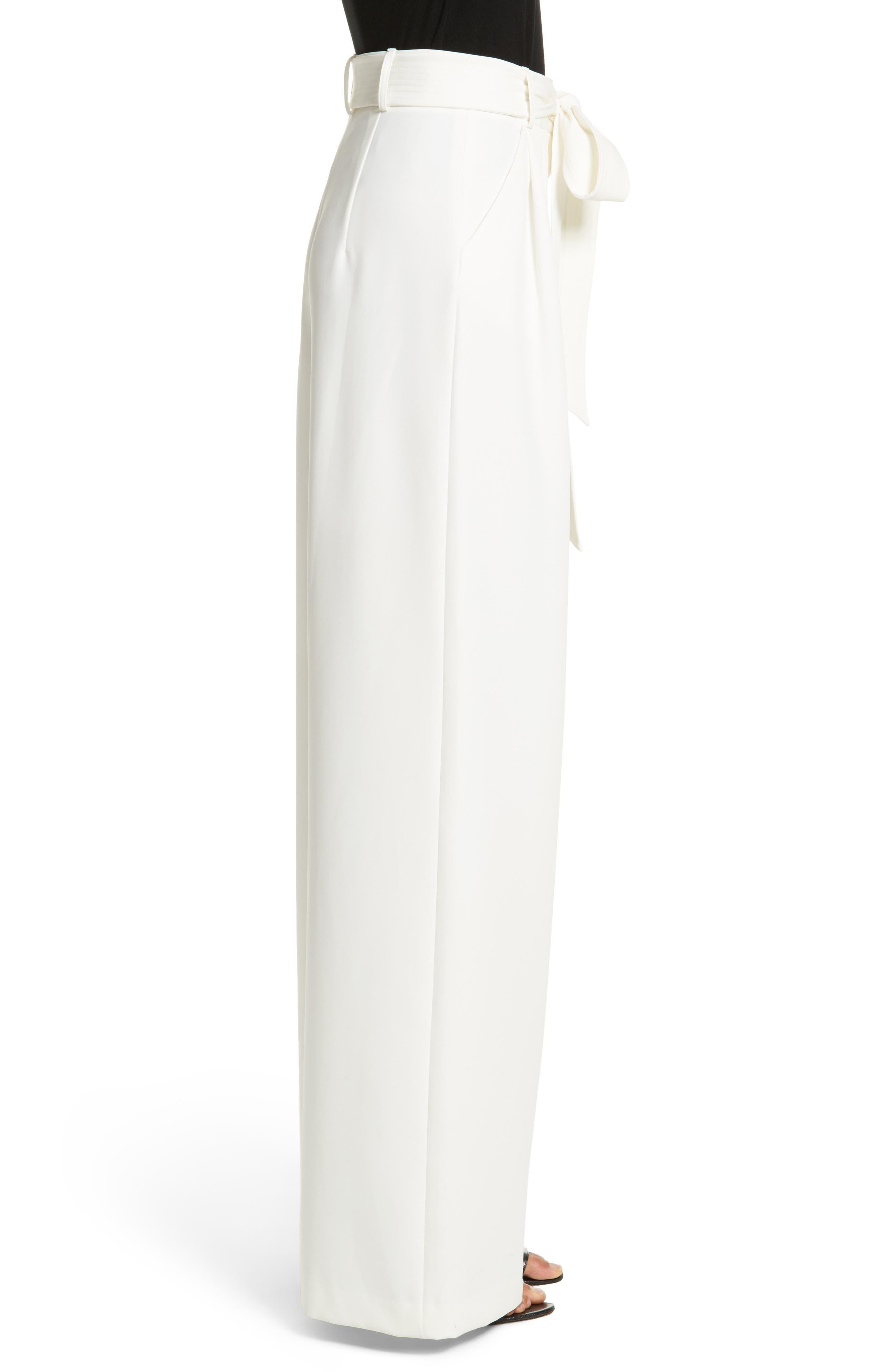 Alternate Image 3  - Milly Italian Cady Trapunto Tie Waist Trousers