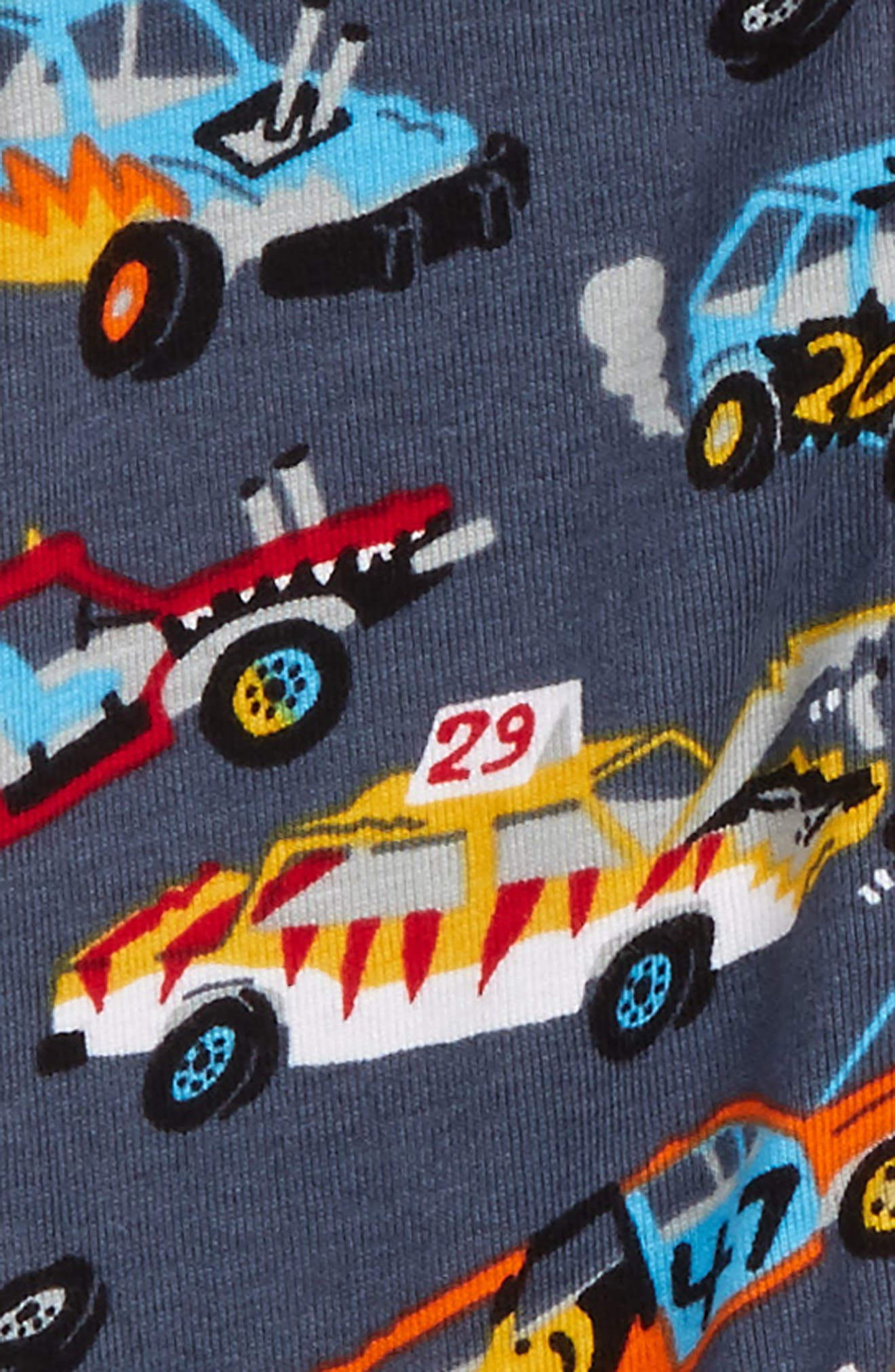 Organic Cotton Fitted One-Piece Pajamas,                             Alternate thumbnail 2, color,                             Monster Cars