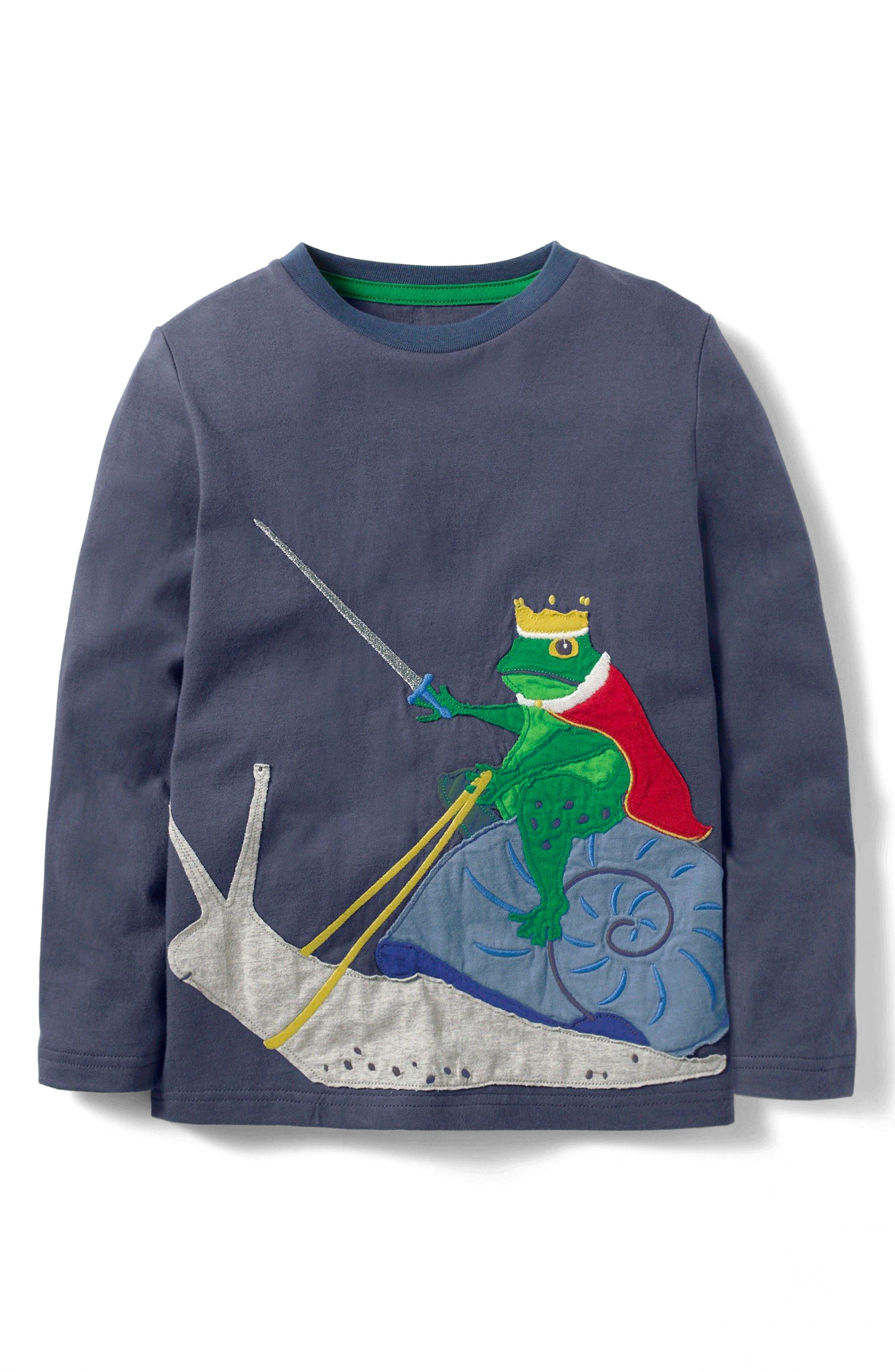 Mini Boden Animal Kingdom Appliqué T-Shirt