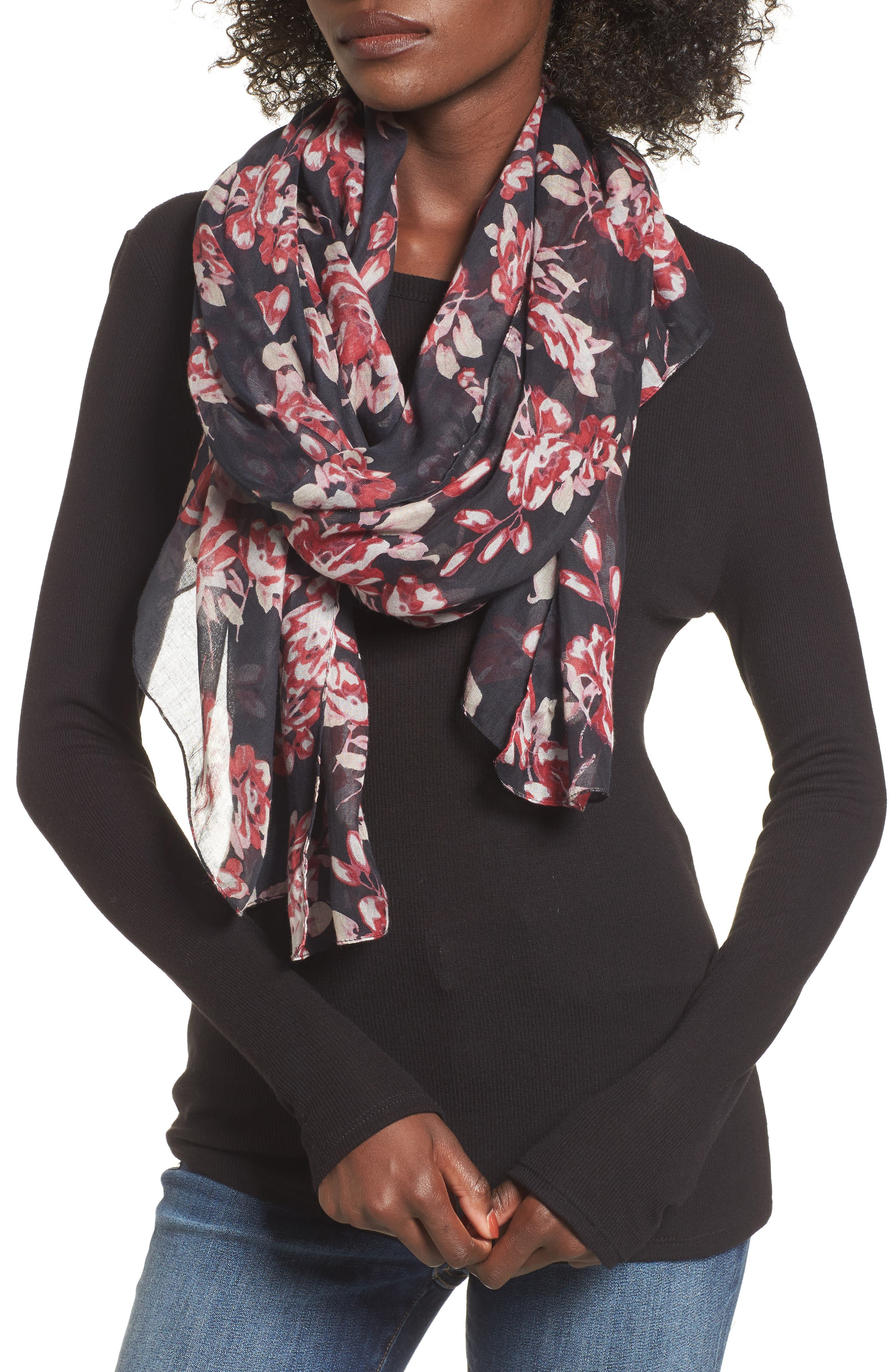 Main Image - Sole Society Floral Print Scarf