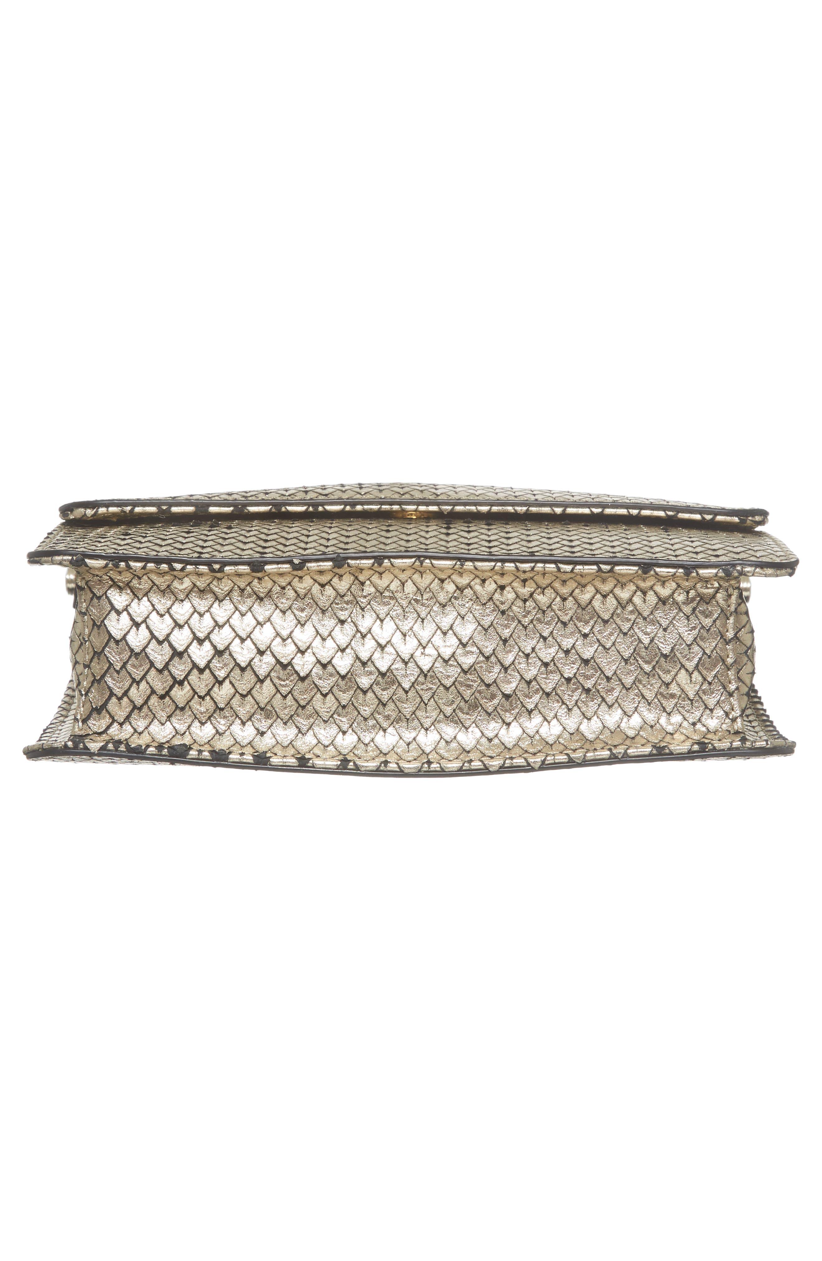 Crawford Calfskin Leather Crossbody Bag,                             Alternate thumbnail 6, color,                             Gold