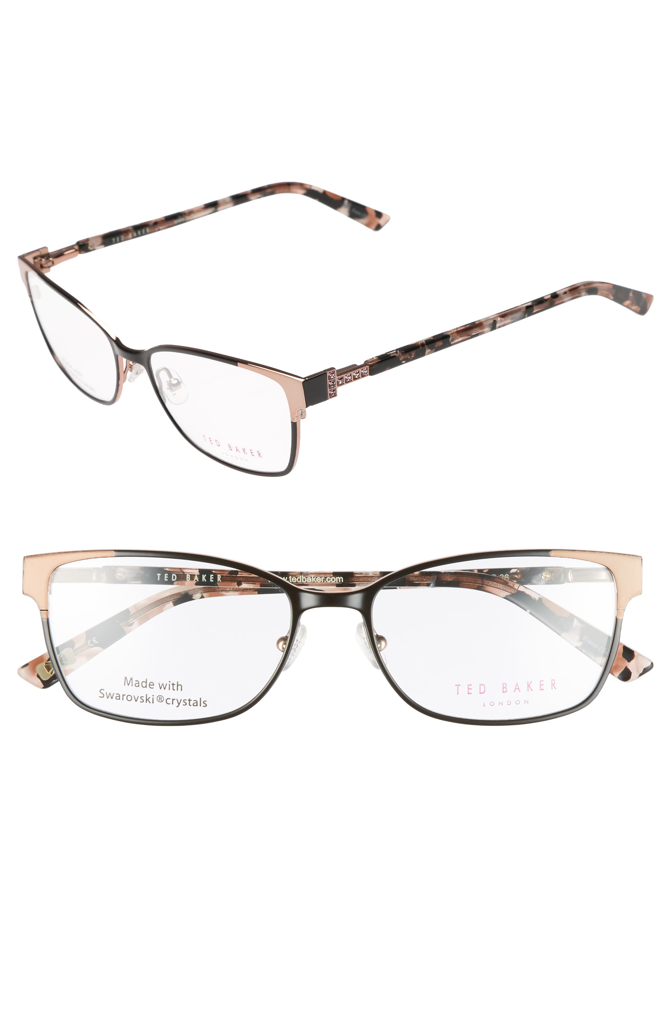 Alternate Image 1 Selected - Ted Baker London 52mm Crystal Rectangular Optical Glasses