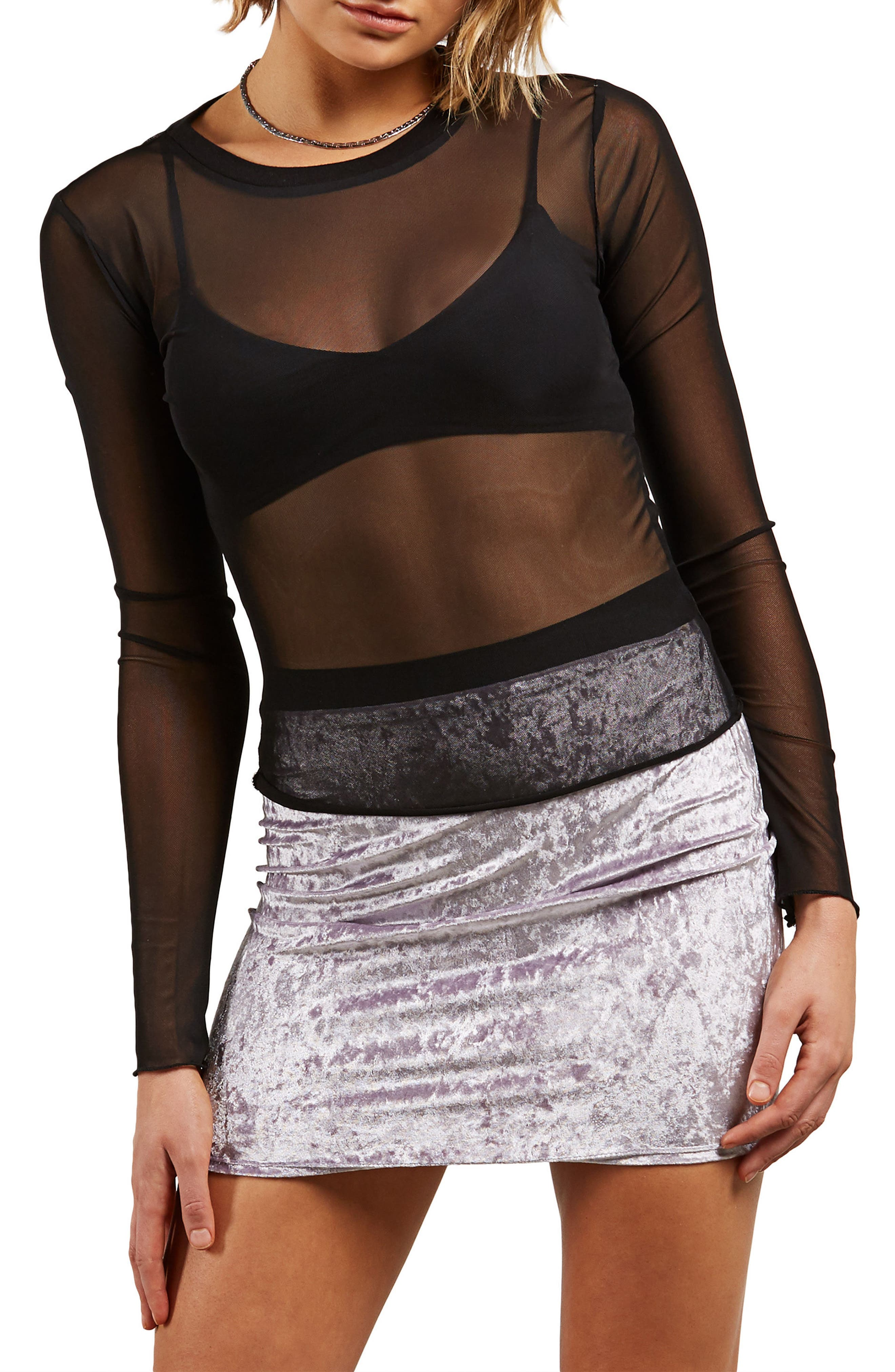 Mesh Me Now Top,                         Main,                         color, Black