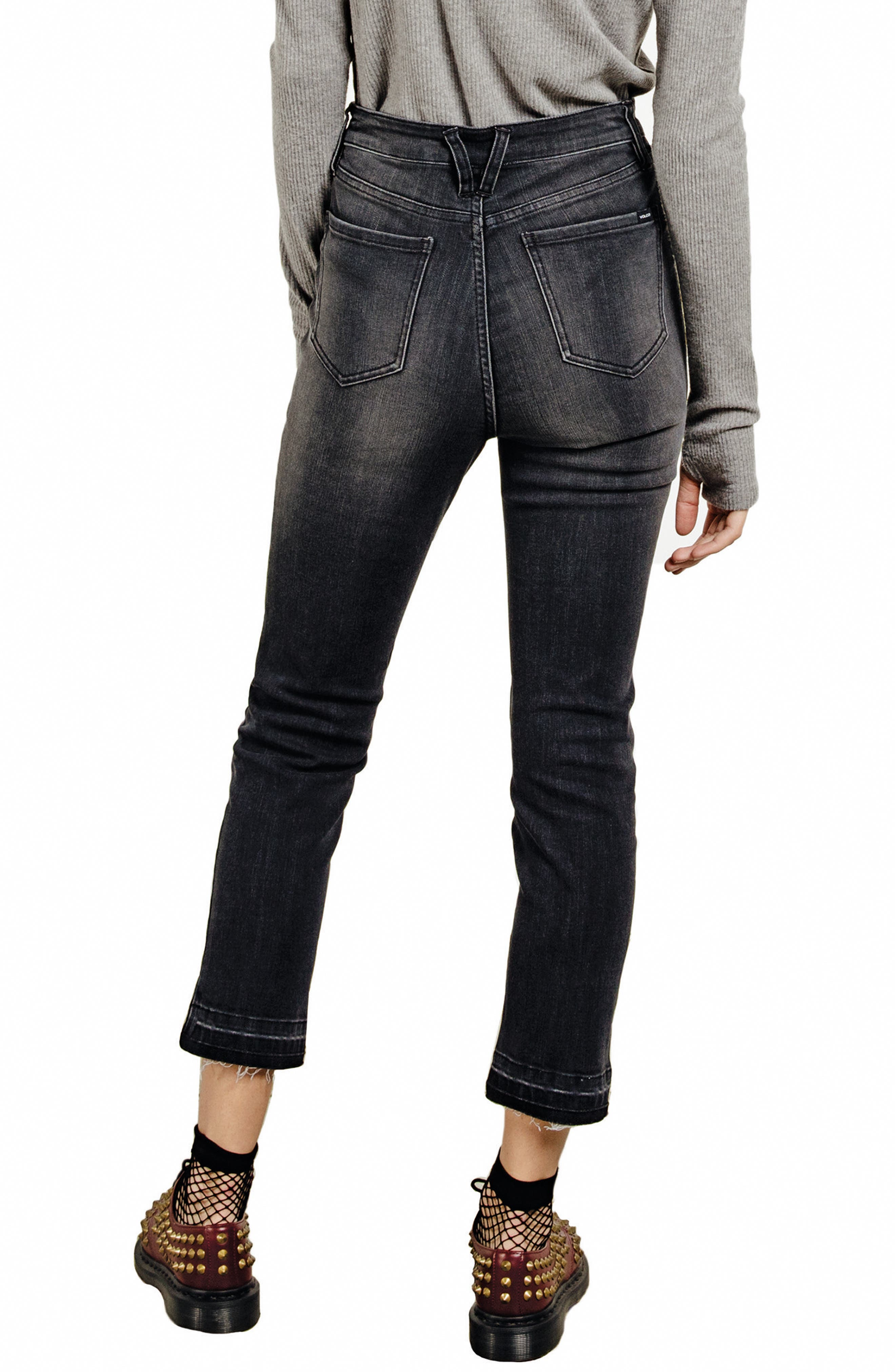 Lady High Waist Jeans,                             Alternate thumbnail 2, color,                             Charred