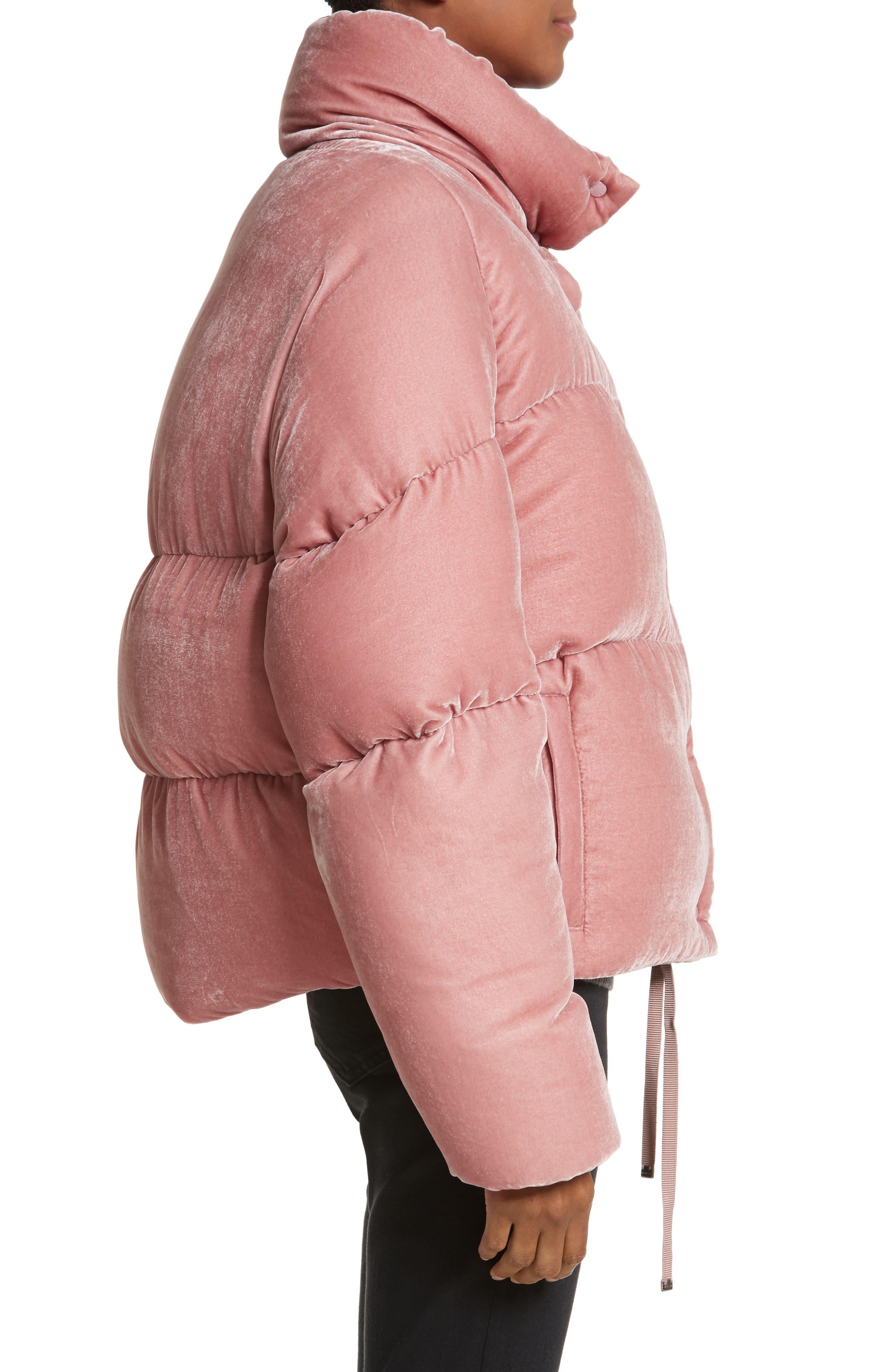 Alternate Image 3  - Moncler Cercis Velvet Quilted Down Puffer Coat