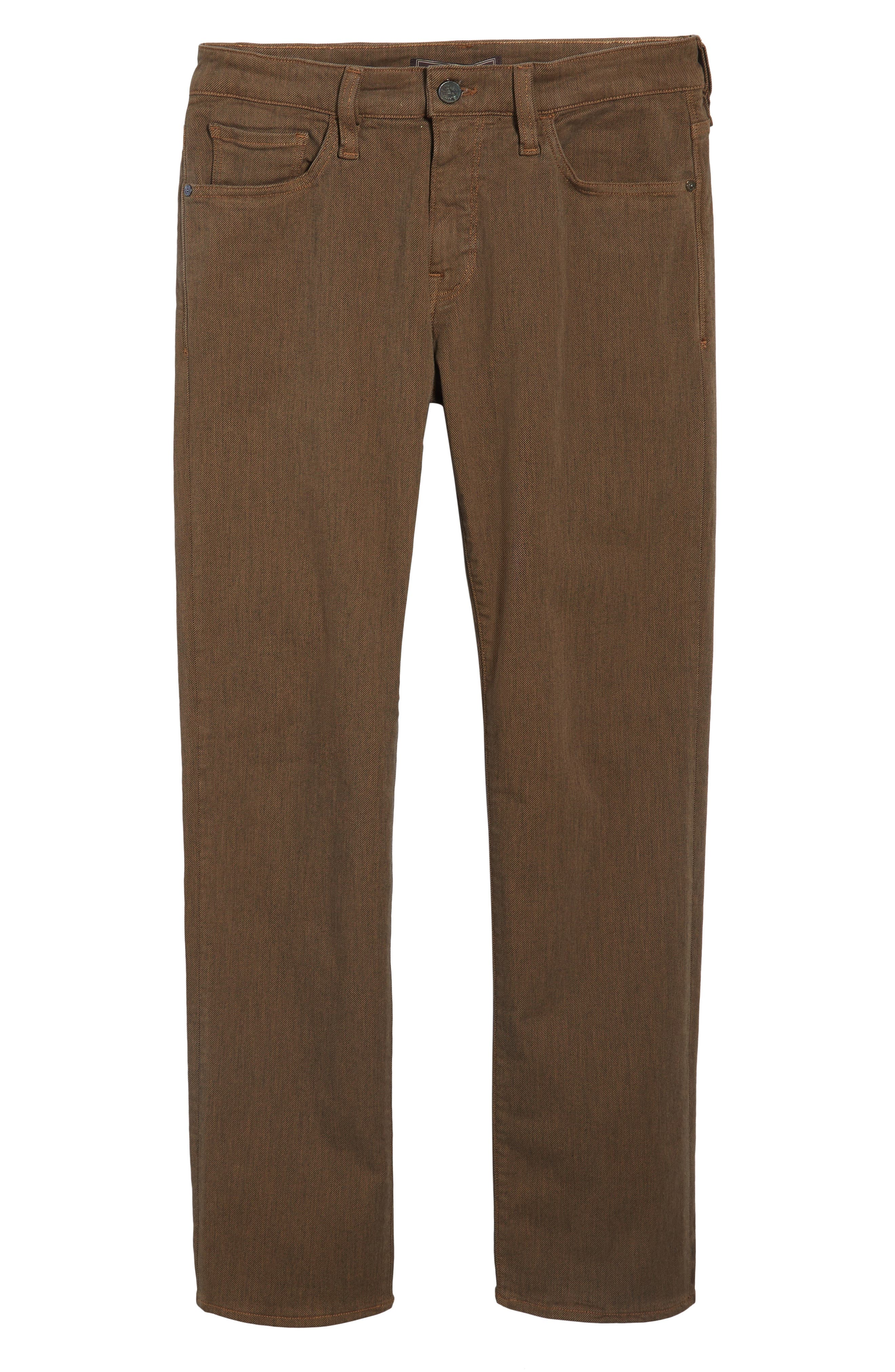 Alternate Image 6  - Heritage 34 Courage Straight Leg Jeans (Rust Diagonal)