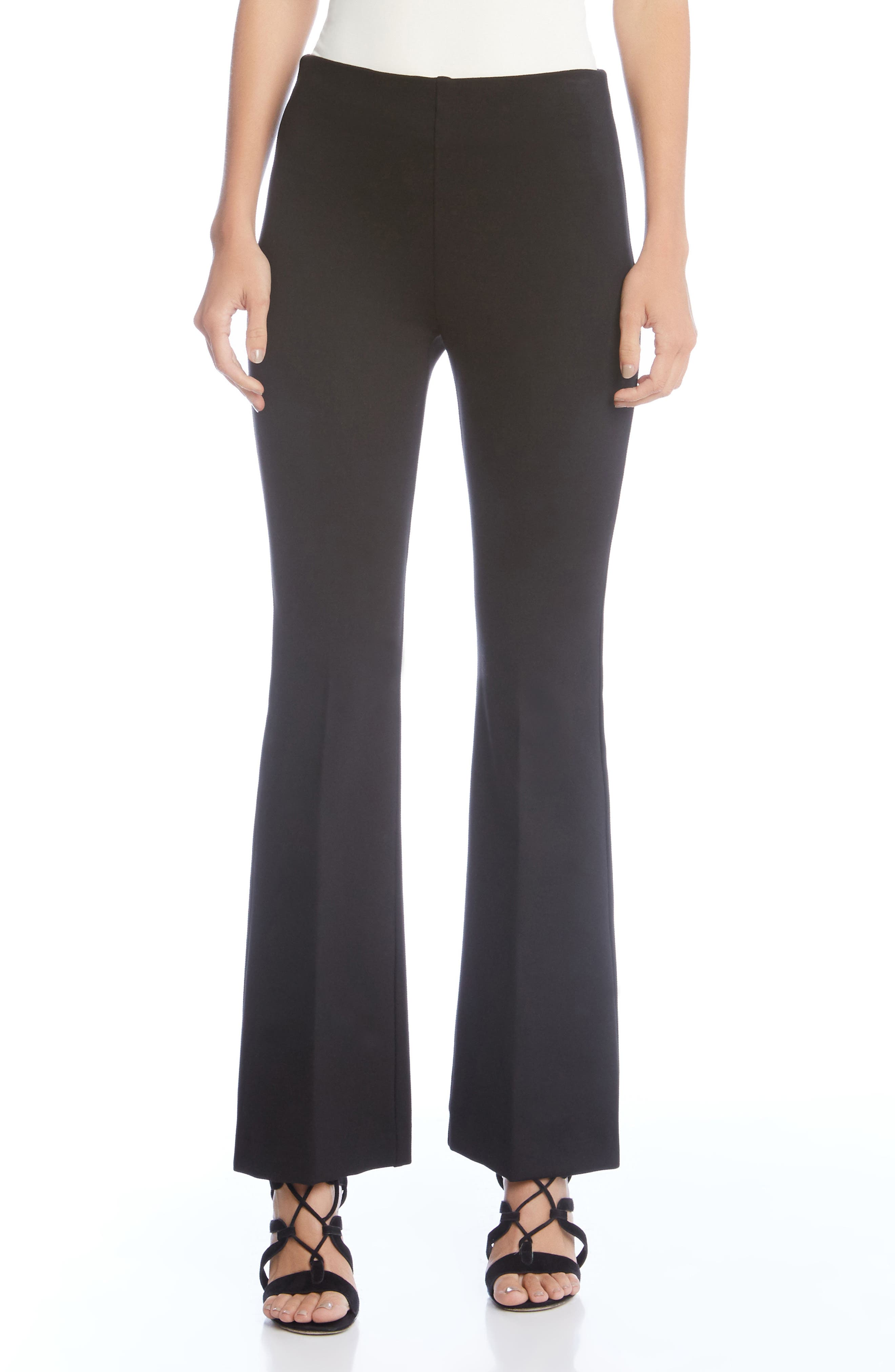 Pull-On Bootcut Pants,                         Main,                         color, Black