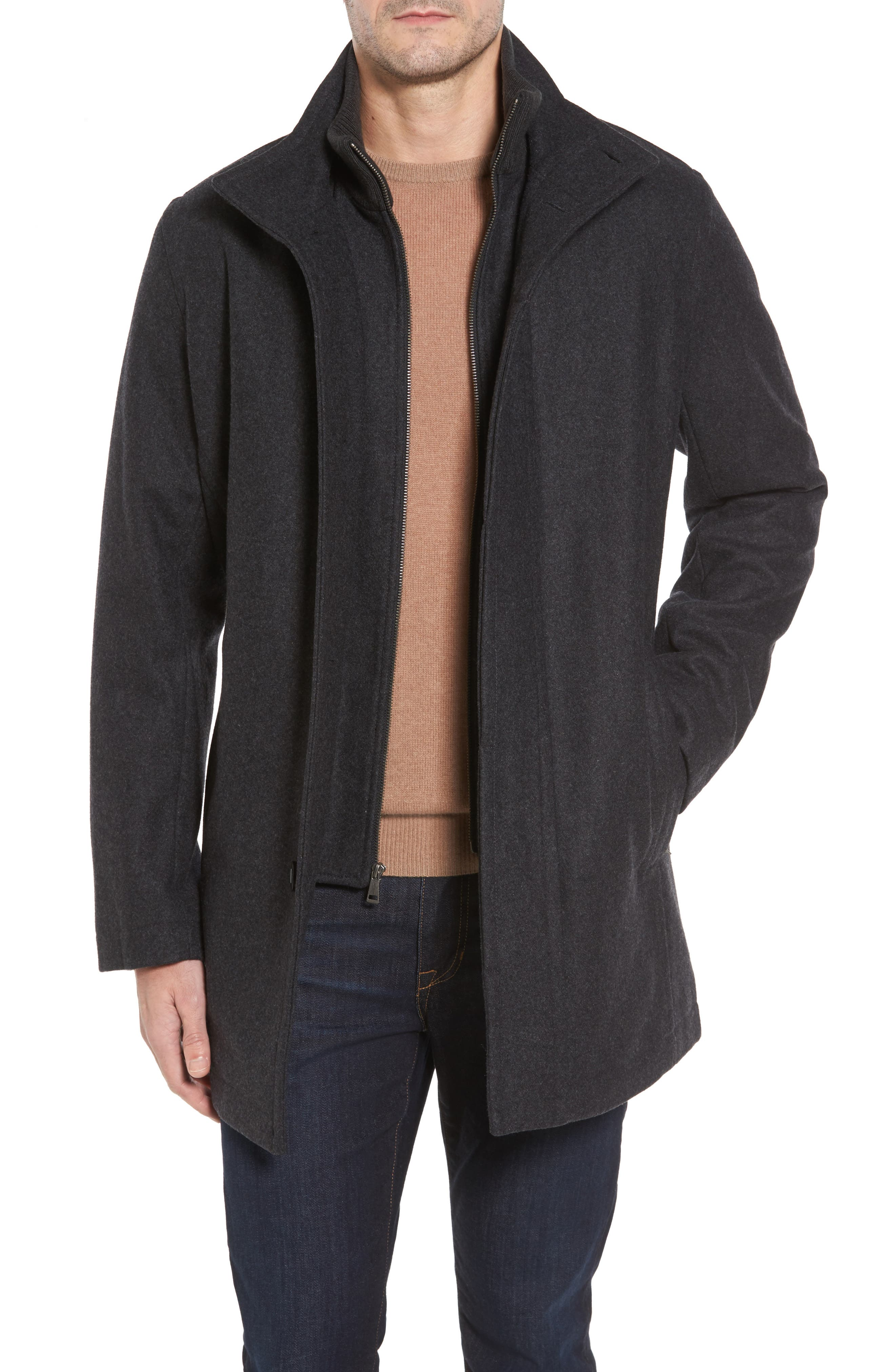 Cole Haan Melton Wool Blend Coat