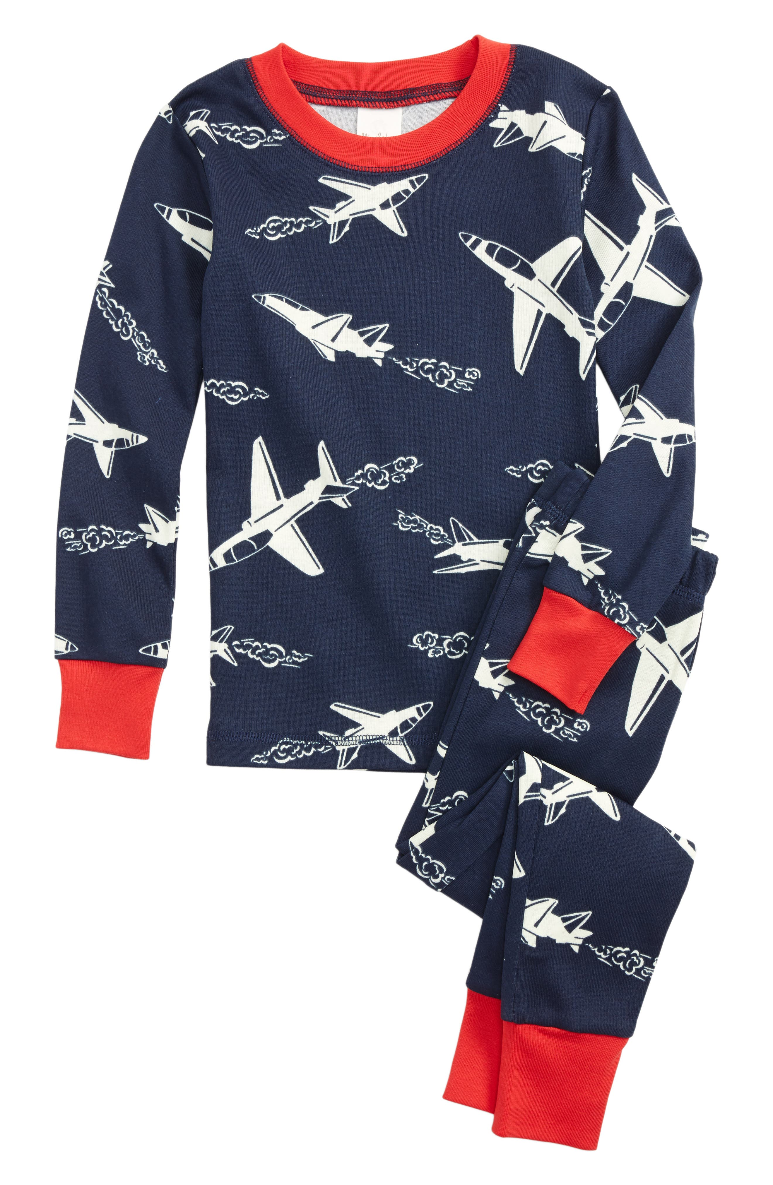 Mini Boden Glow in the Dark Fitted Two-Piece Pajamas (Toddler Boys, Little Boys & Big Boys)