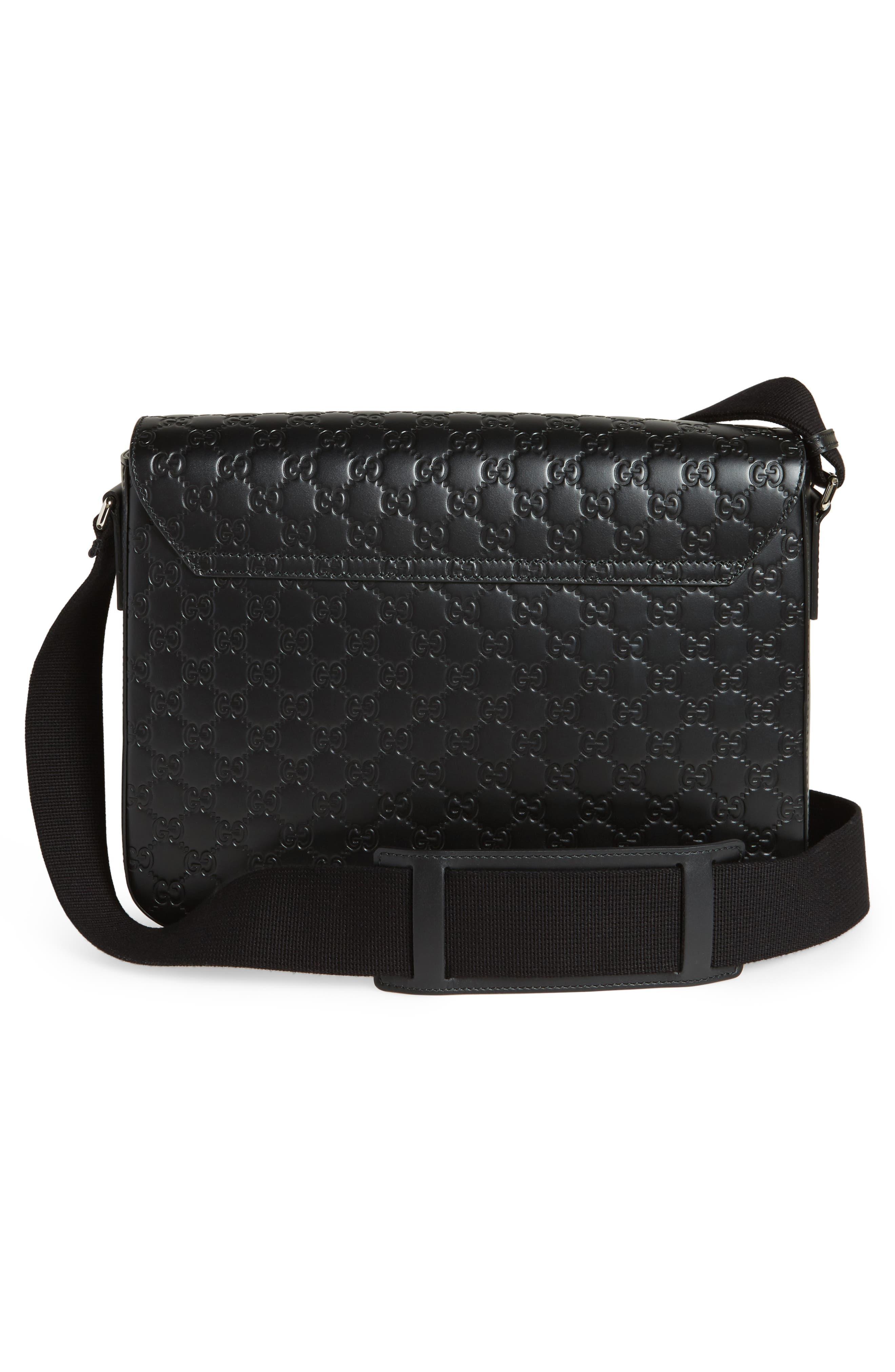 Alternate Image 3  - Gucci GG Leather Messenger Bag
