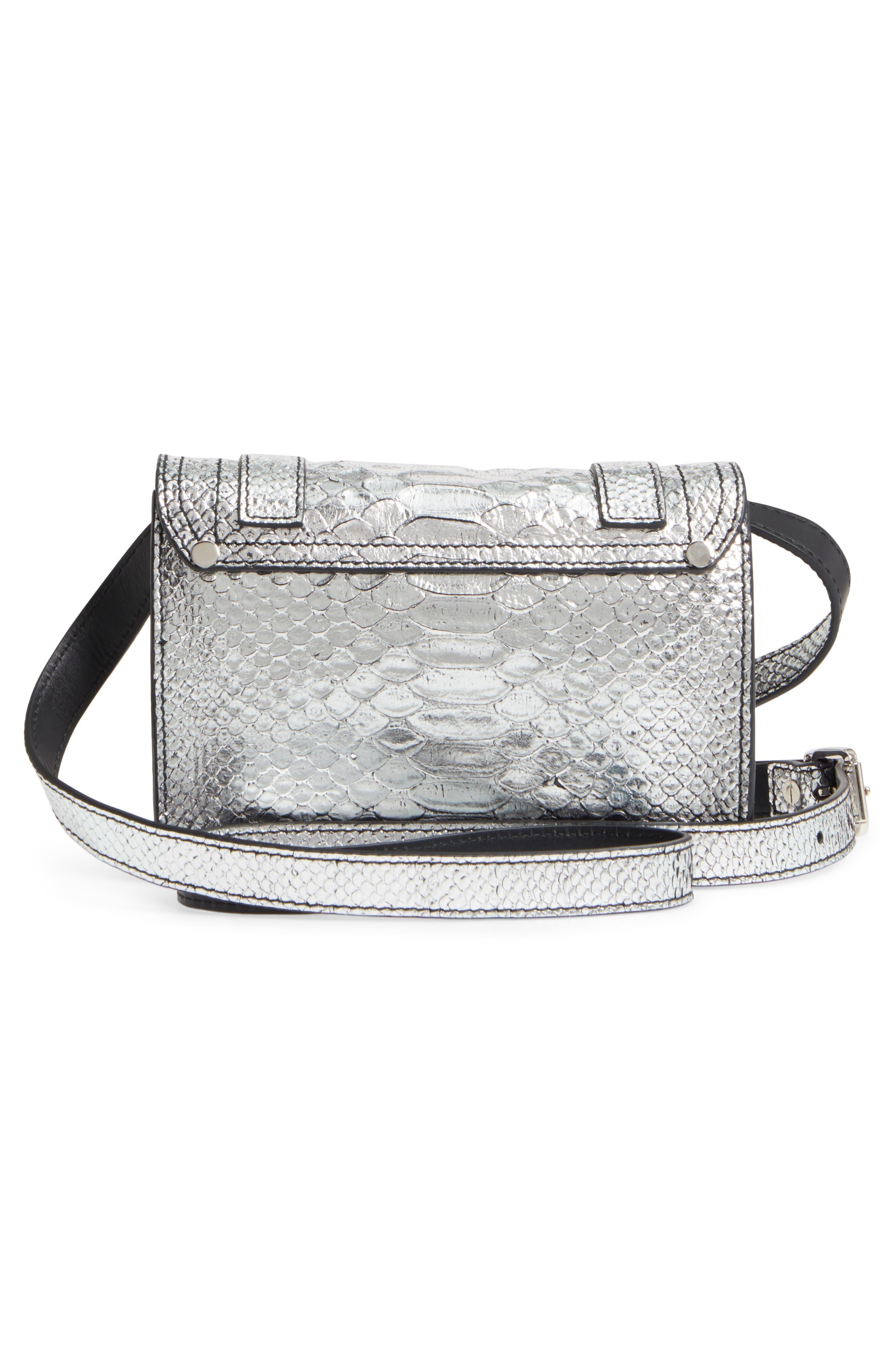 Alternate Image 2  - Proenza Schouler Mini PS1 Snakeskin Embossed Metallic Leather Crossbody Bag