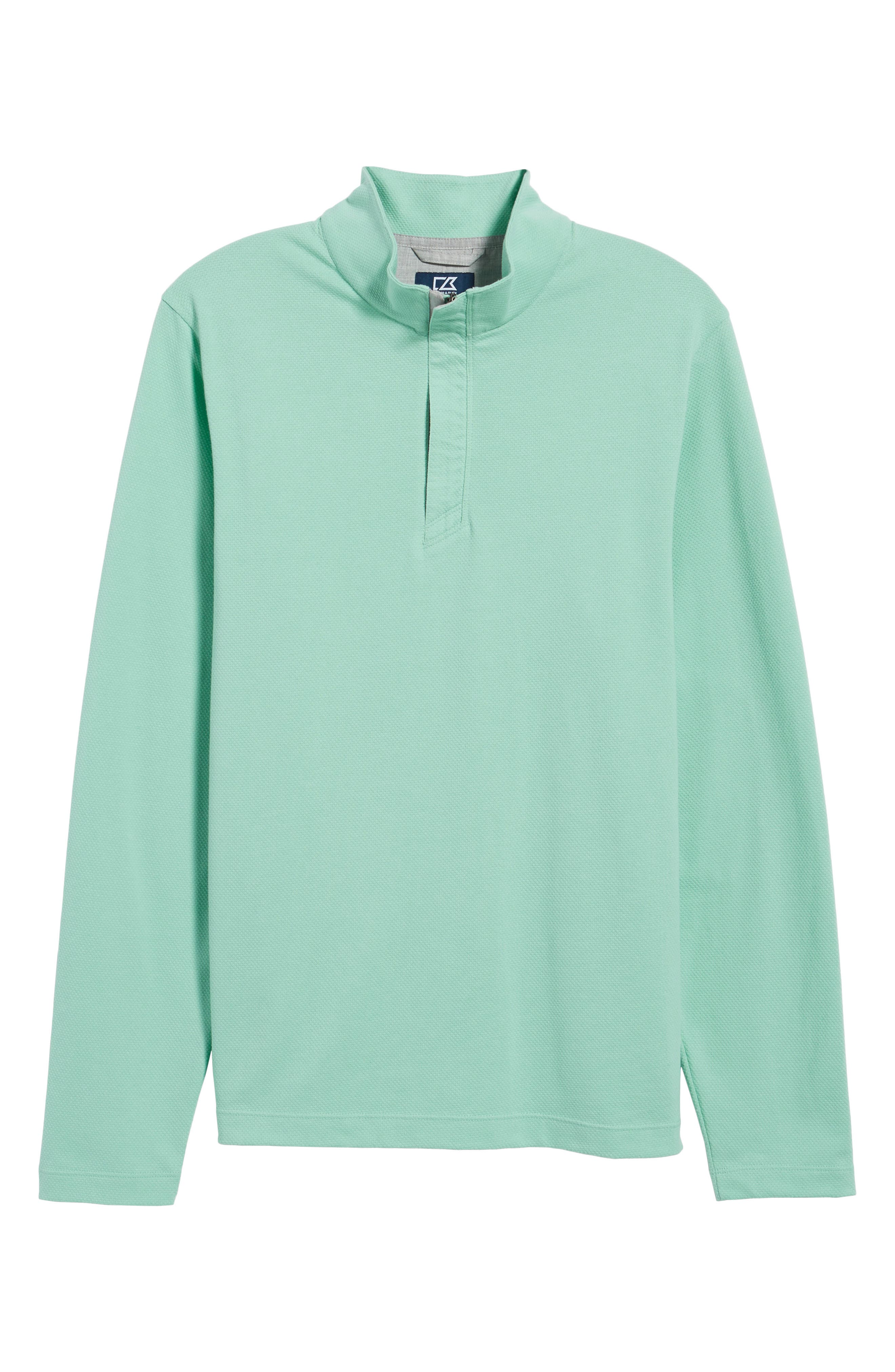 Hewitt Quarter Zip Pullover,                             Alternate thumbnail 6, color,                             Aquastone