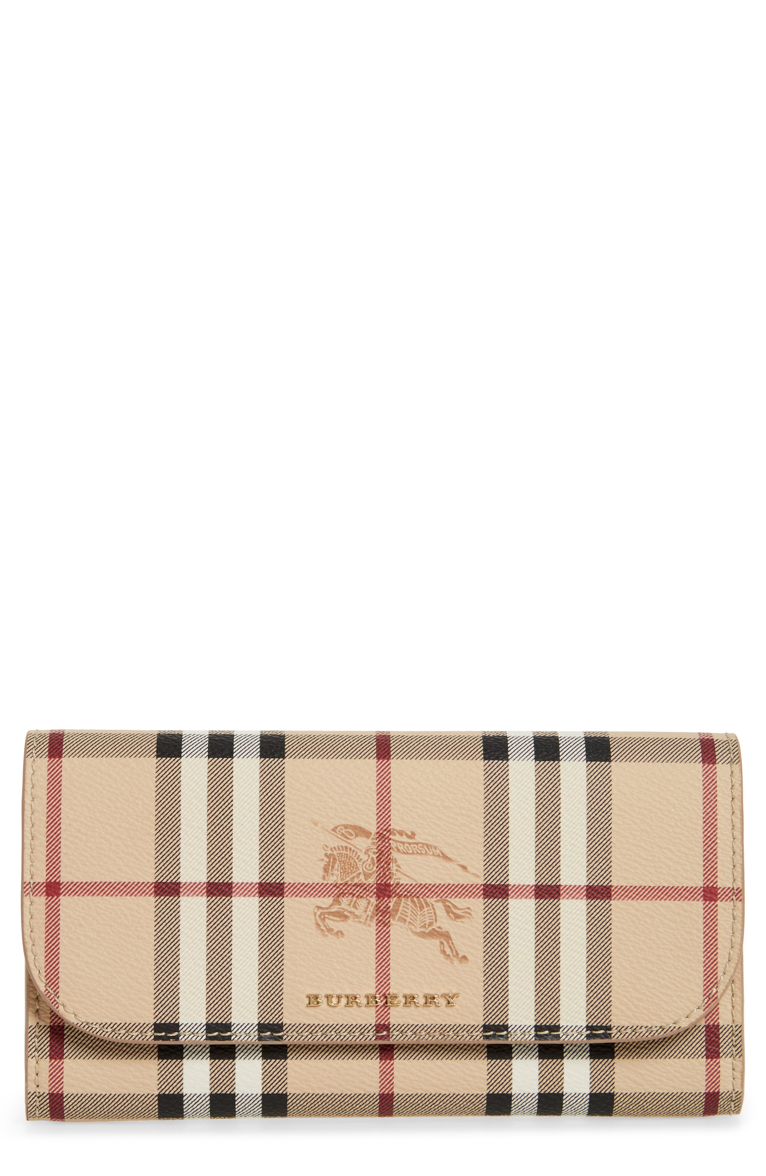 Burberry Harris Haymarket Check Calfskin Wallet