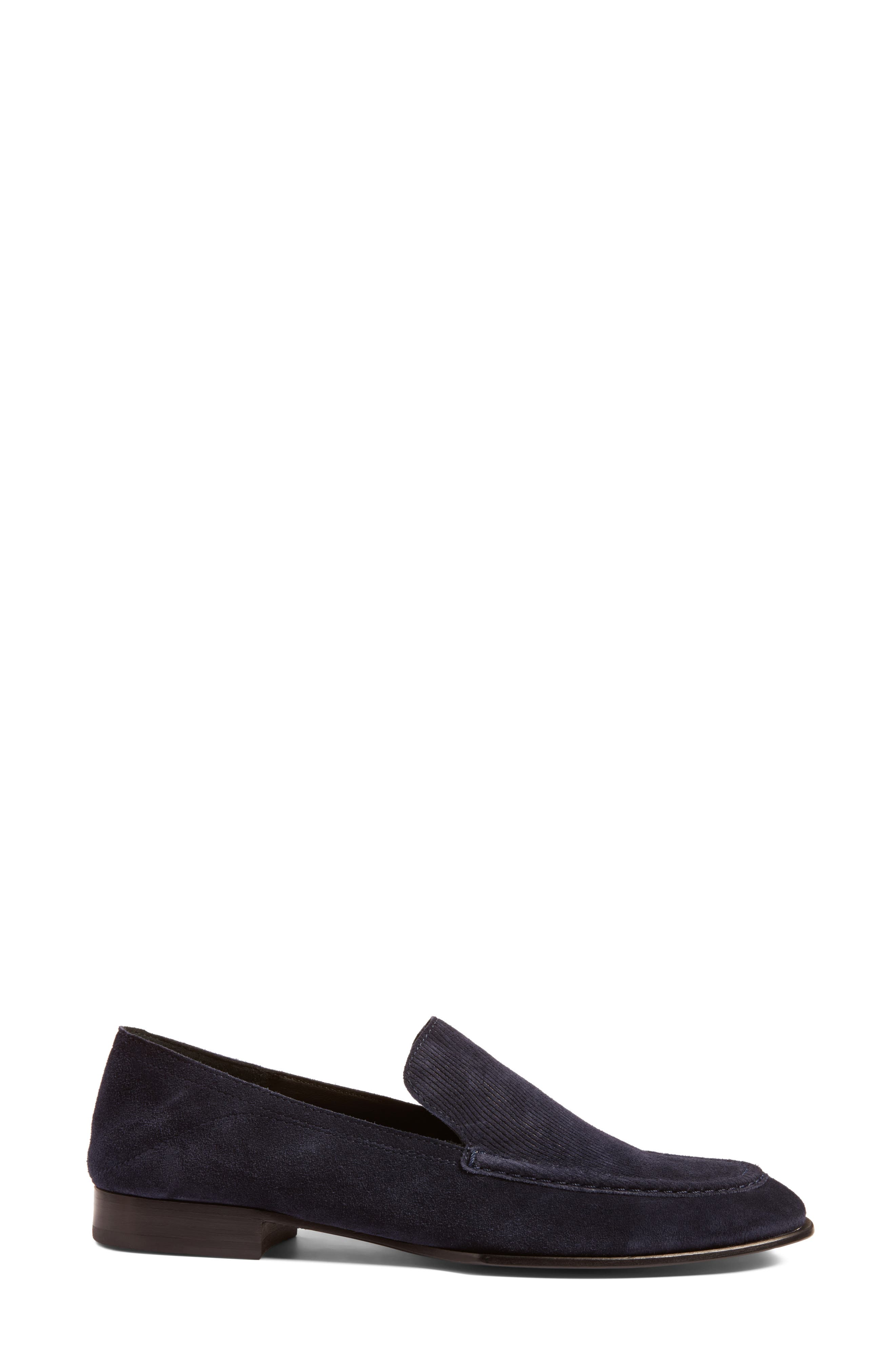 Alix Convertible Loafer,                             Alternate thumbnail 4, color,                             Navy Suede
