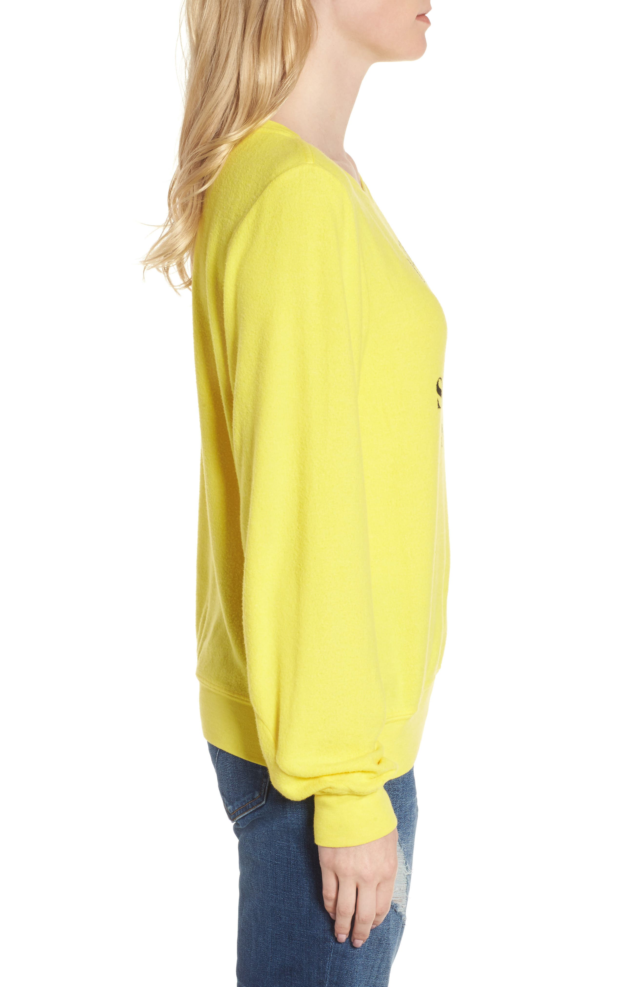 Alternate Image 3  - Wildfox 'Somewhere Sunny' Sweatshirt