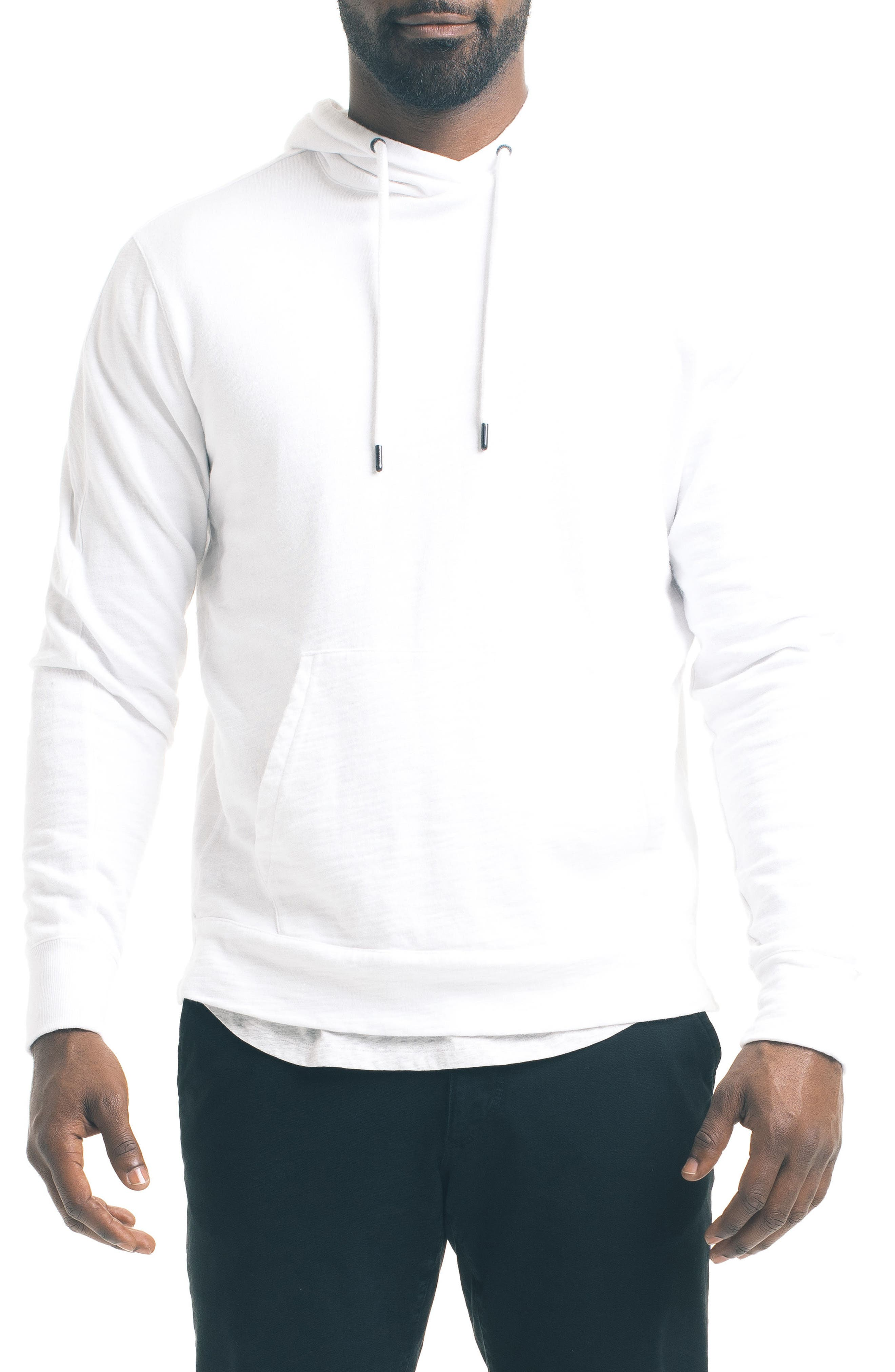 Slim Pro Hoodie,                         Main,                         color, White