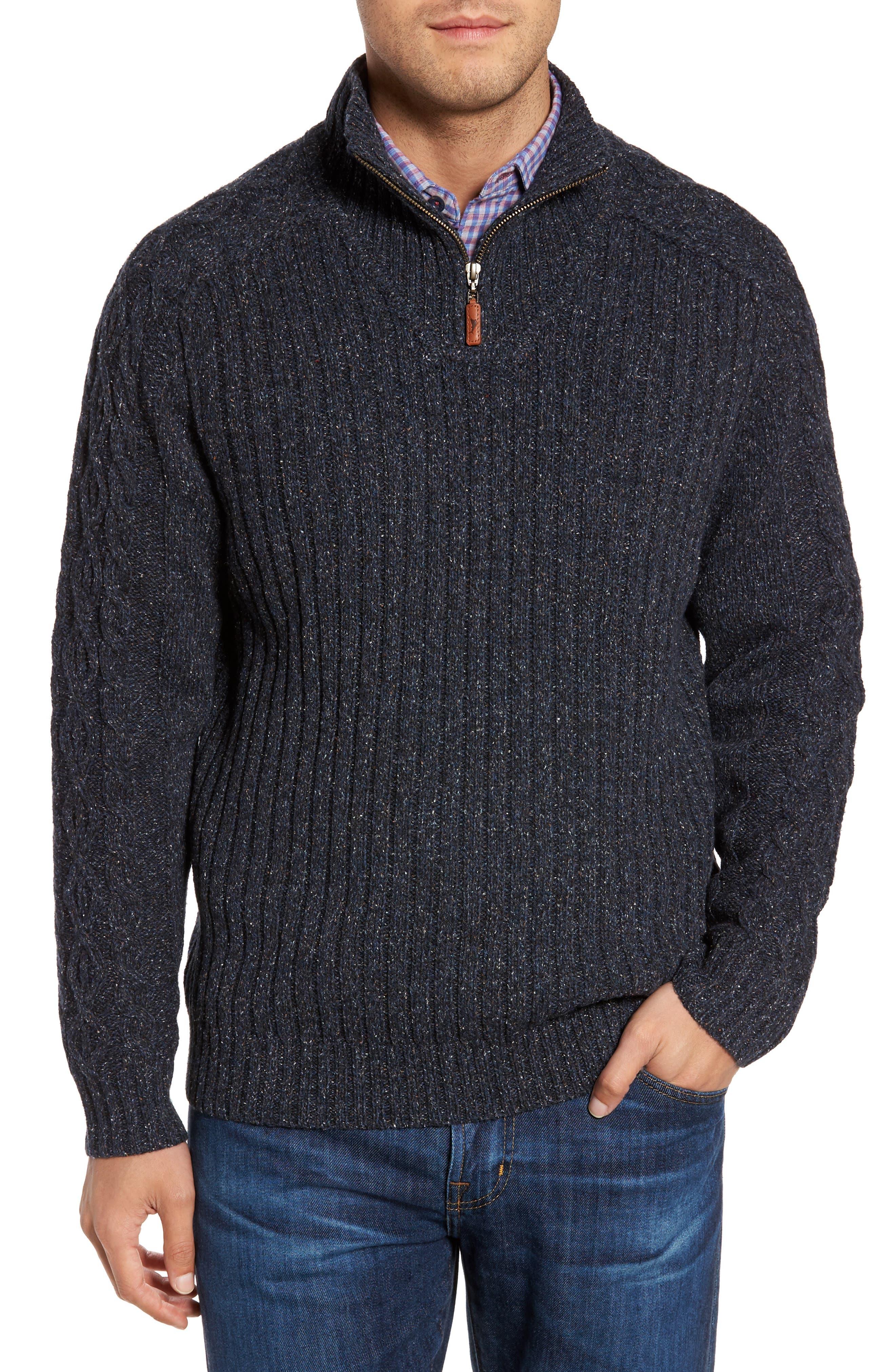 Hamada Quarter Zip Sweater,                         Main,                         color, Ocean Deep