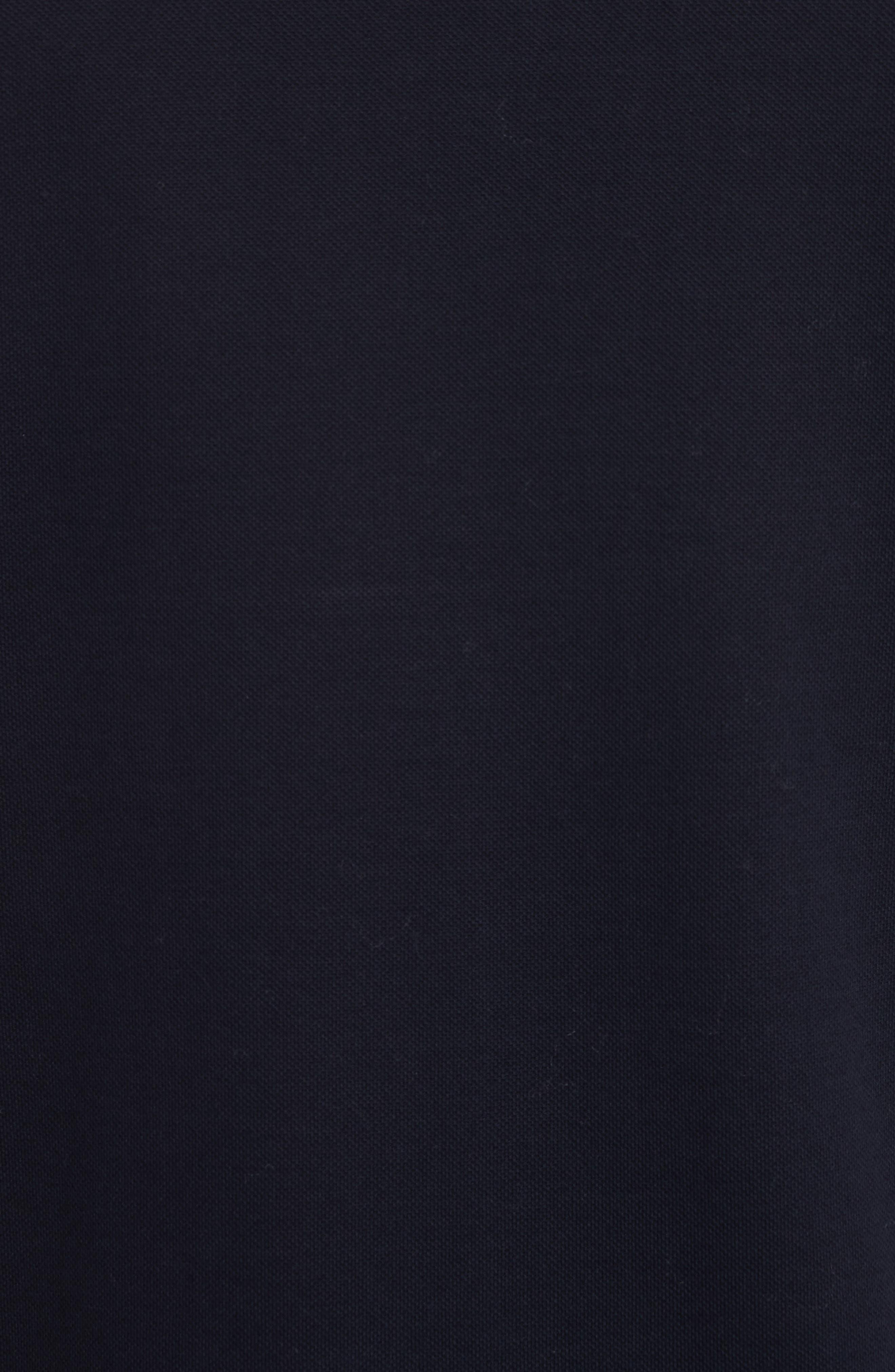 Stripe Trim Piqué Polo,                             Alternate thumbnail 5, color,                             Blue