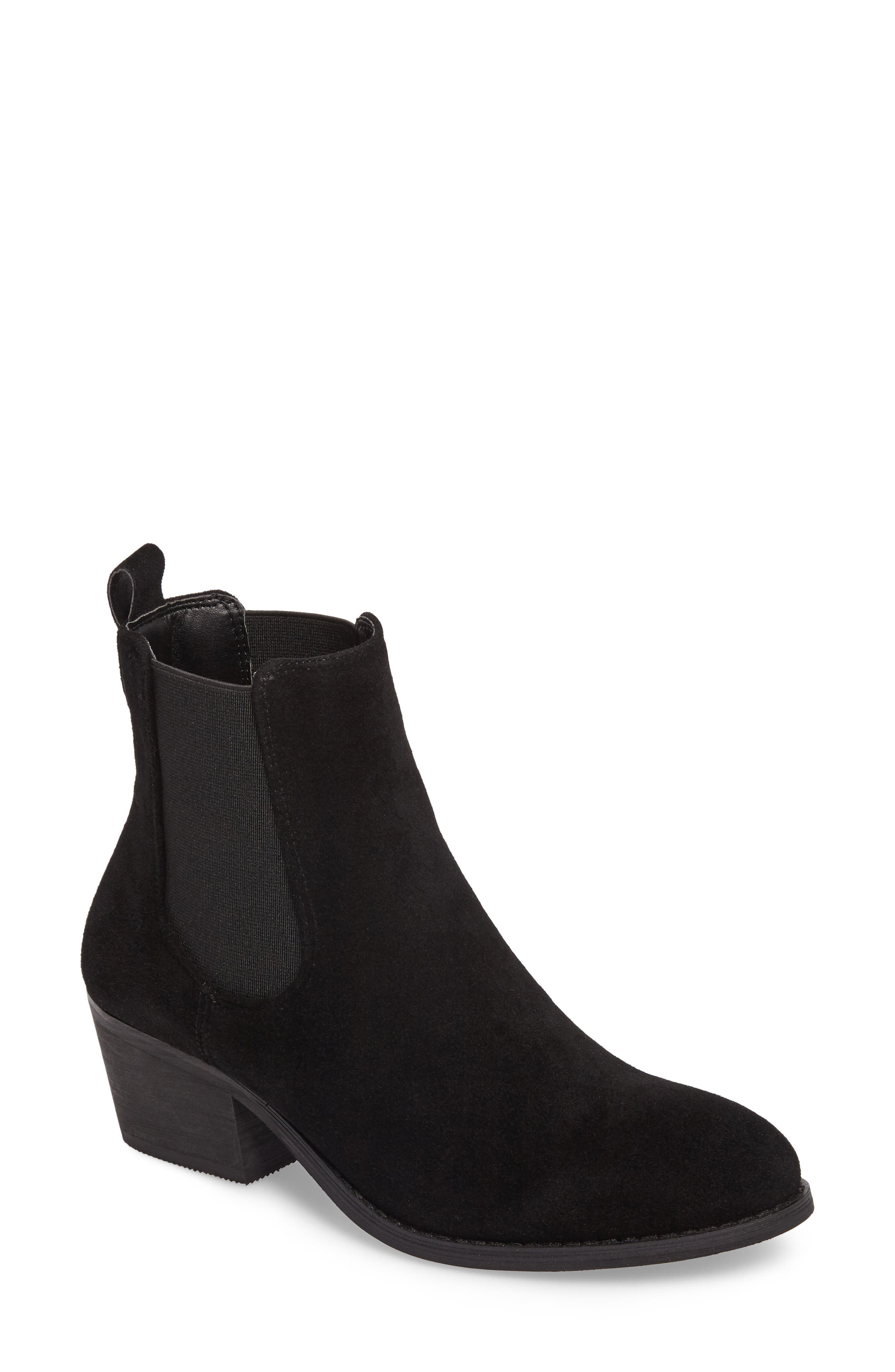 Ammore Chelsea Boot,                             Main thumbnail 1, color,                             Black Suede