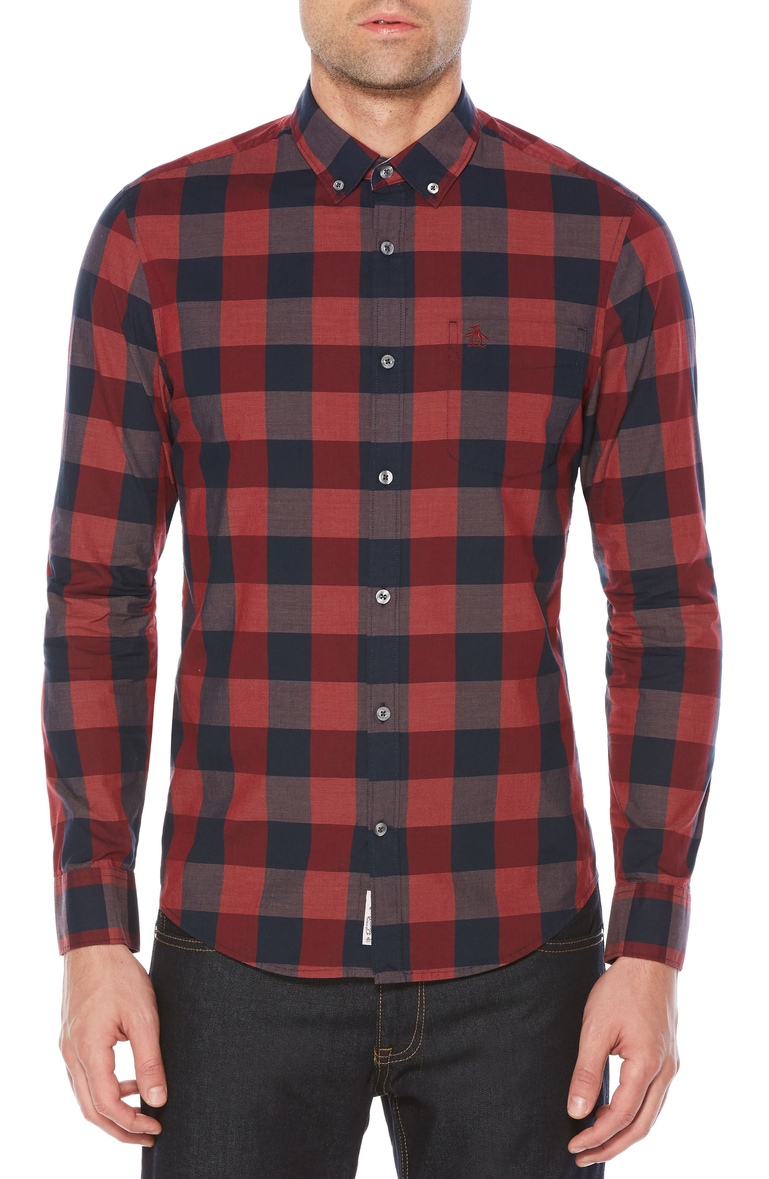 Original Penguin End on End Plaid Shirt