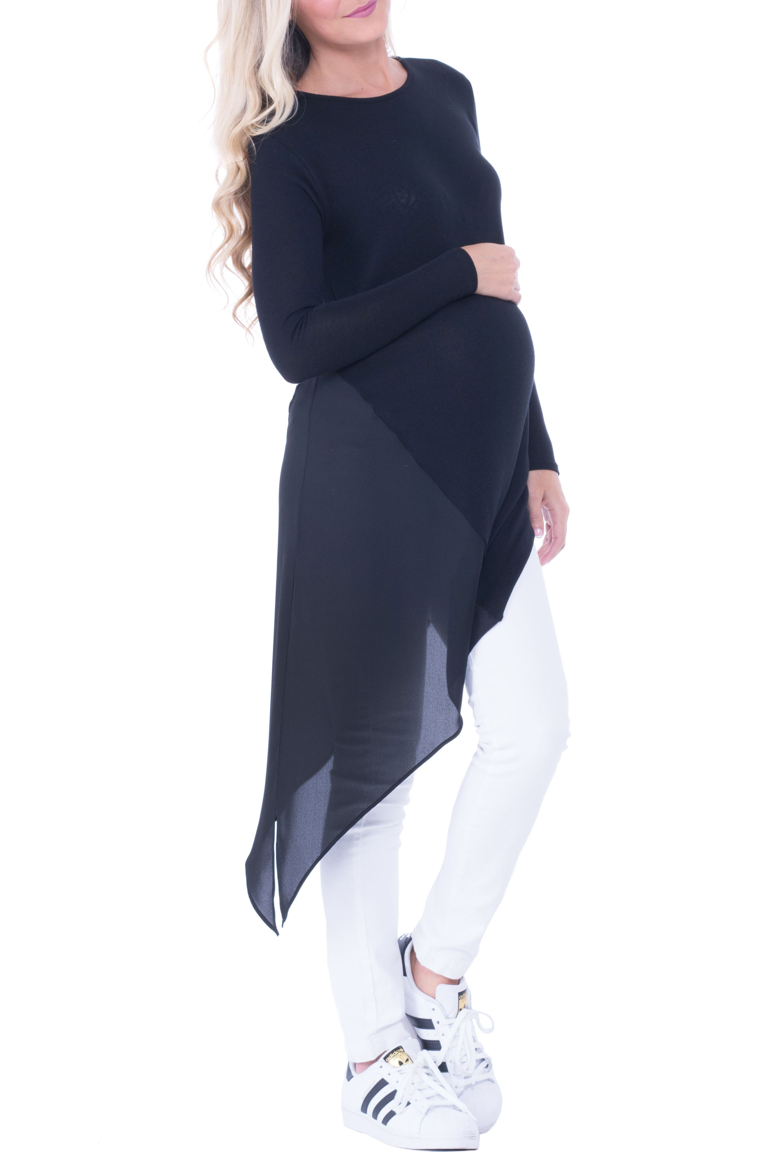 Alternate Image 3  - Olian Leah Side Tie Maternity Top