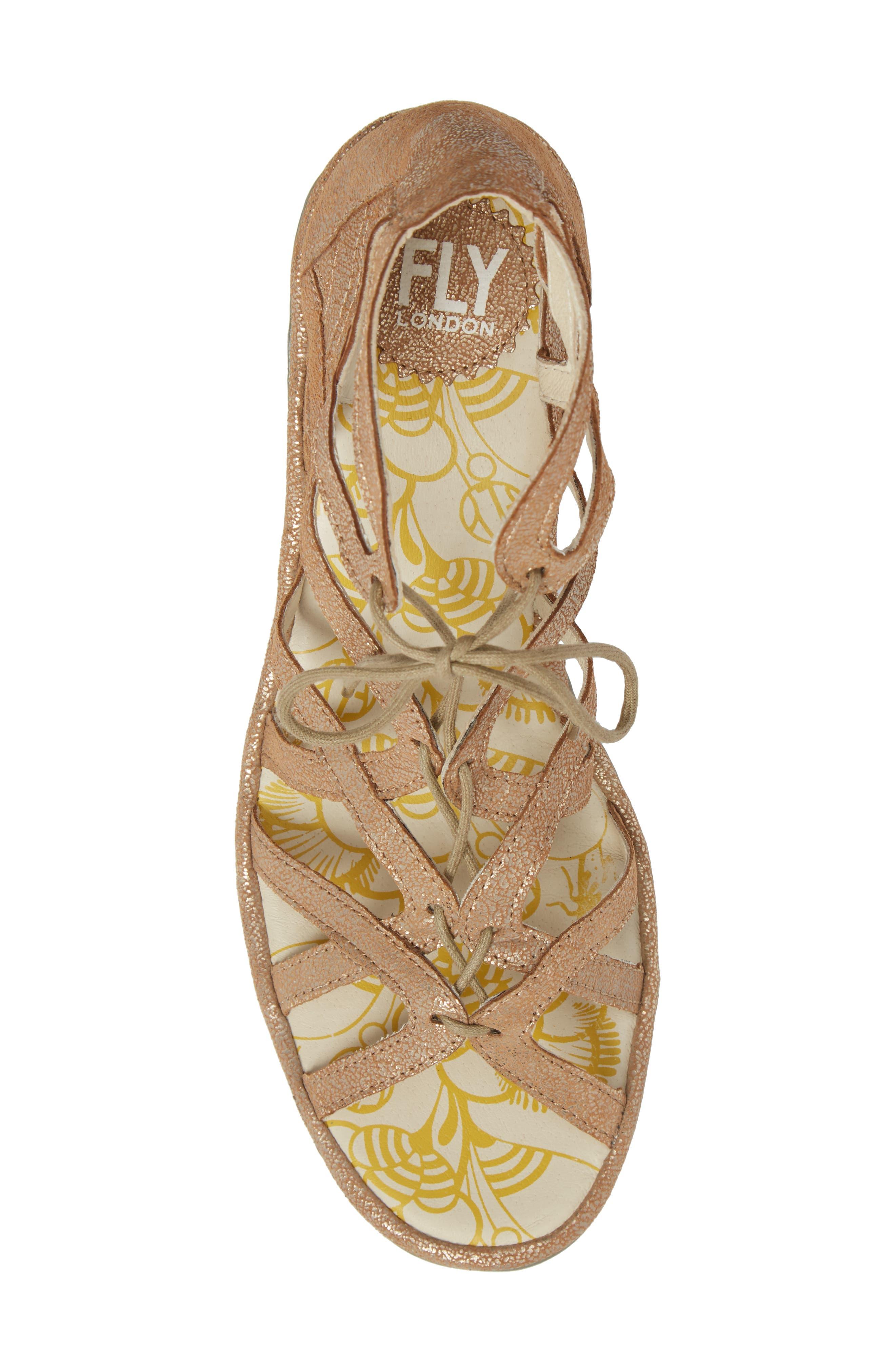 'Yuke' Platform Wedge Sandal,                             Alternate thumbnail 5, color,                             Luna Leather