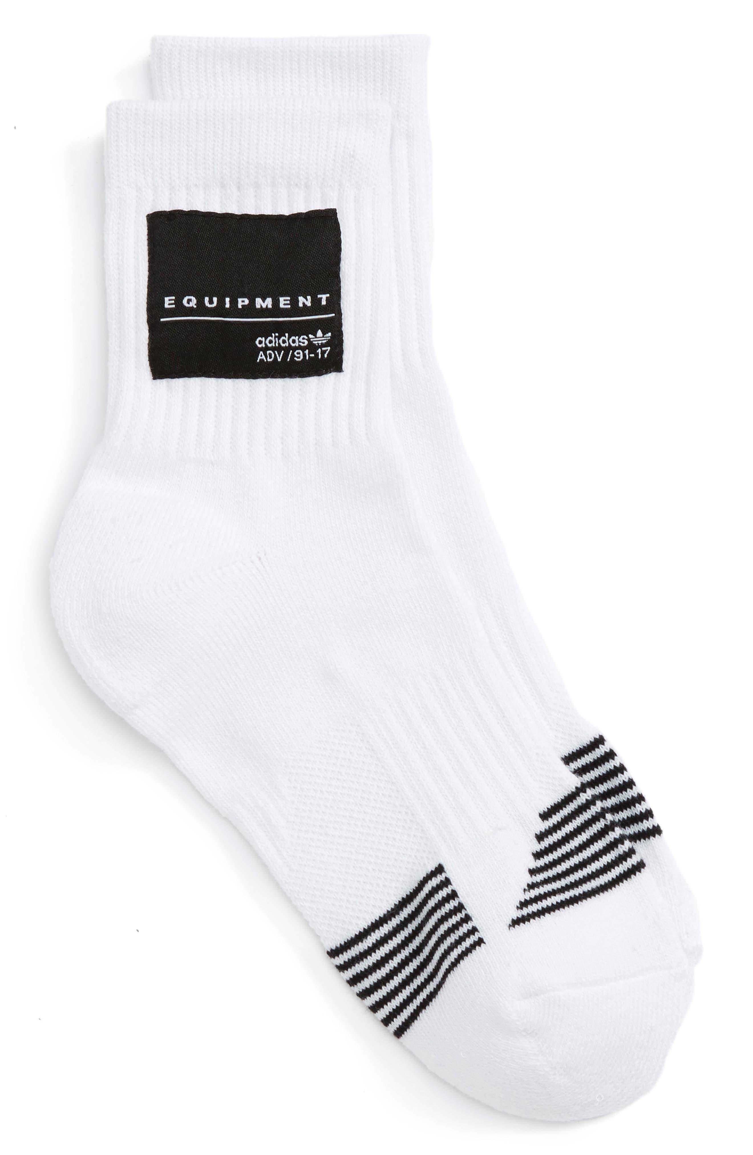 Equipment Crew Socks,                         Main,                         color, White/ Black