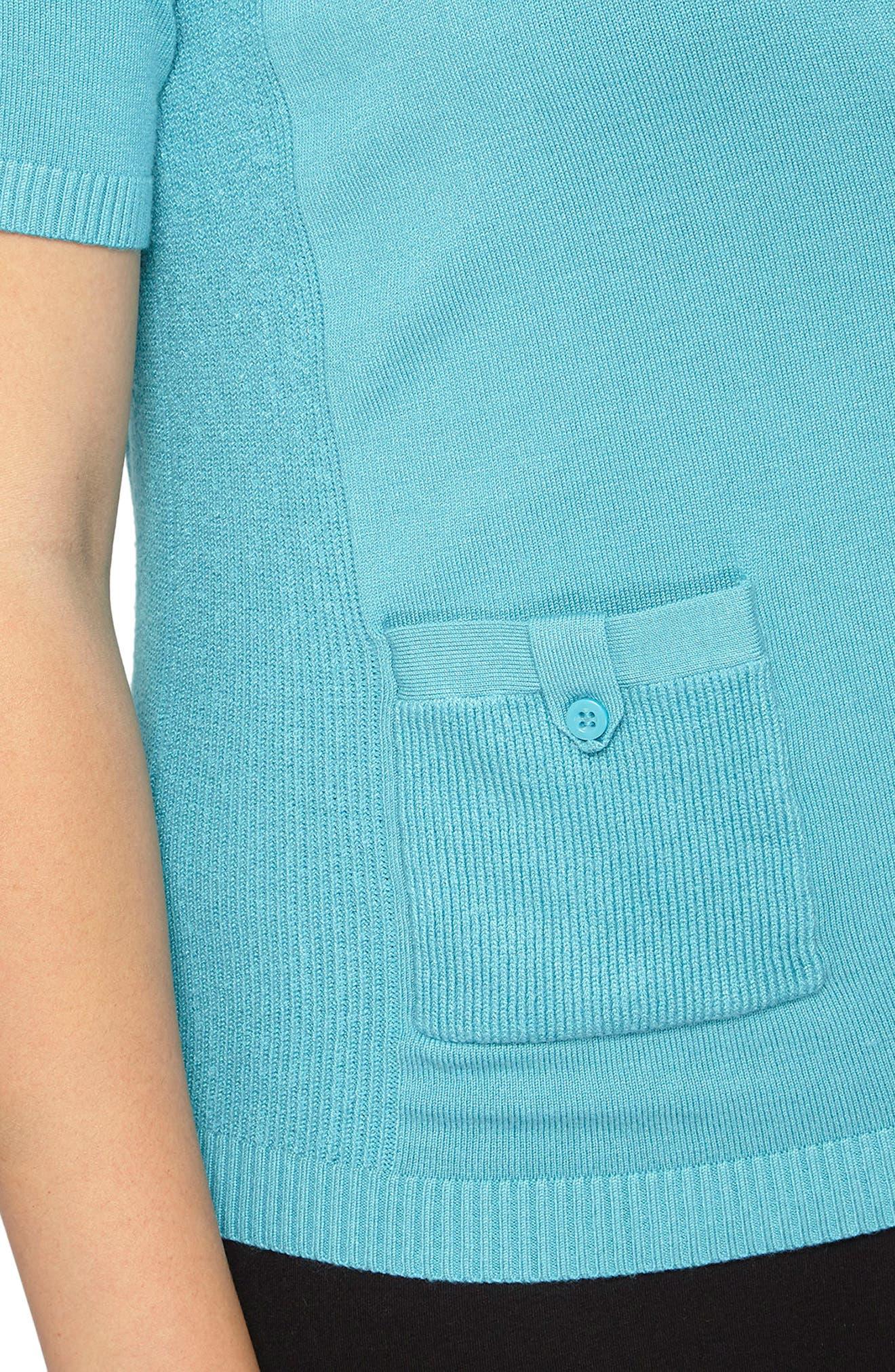 Alternate Image 3  - Evans Tab Pocket Cardigan (Plus Size)