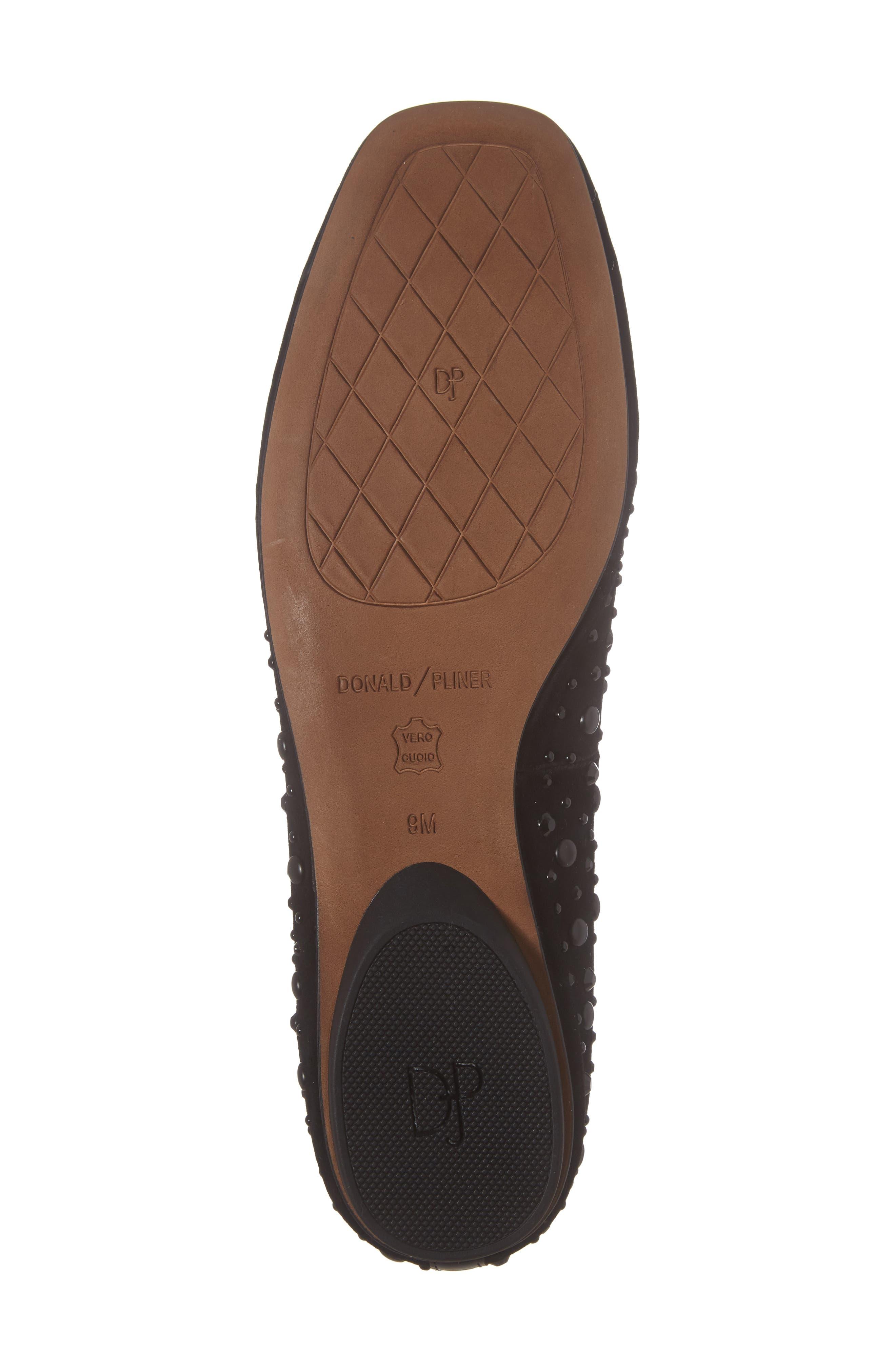 Dora Skimmer Flat,                             Alternate thumbnail 6, color,                             Black Leather