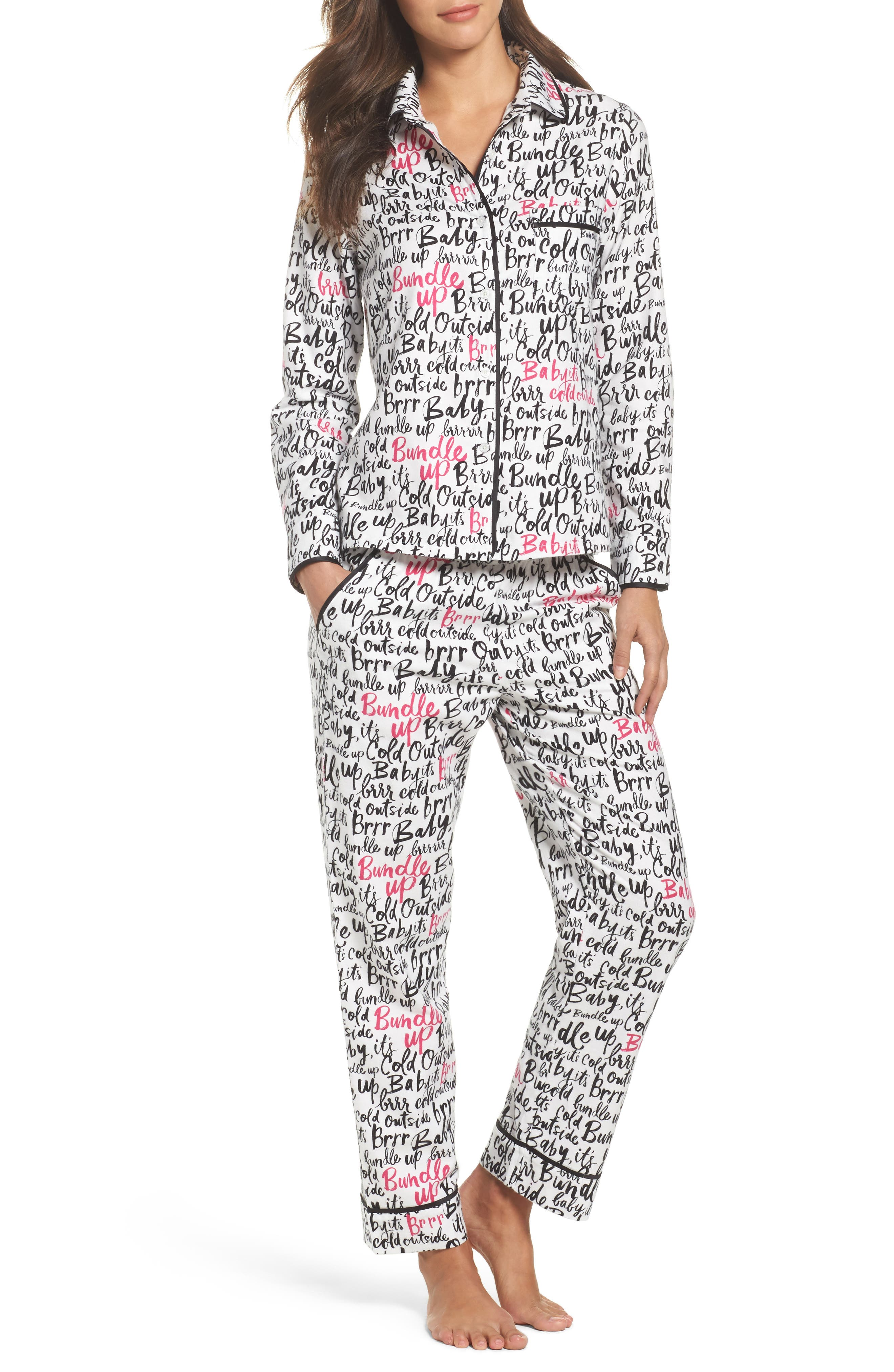 kate spade new york flannel pajamas