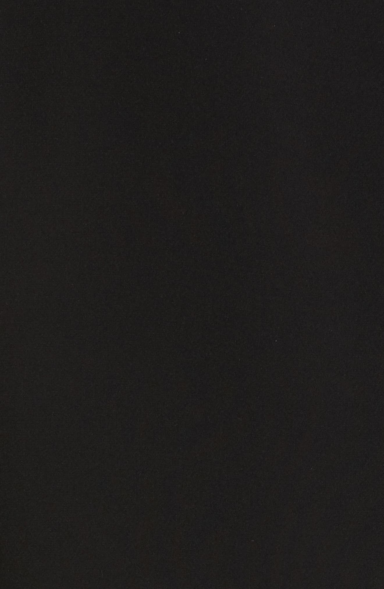 Candace Finesse Crepe Shift Dress,                             Alternate thumbnail 6, color,                             Black