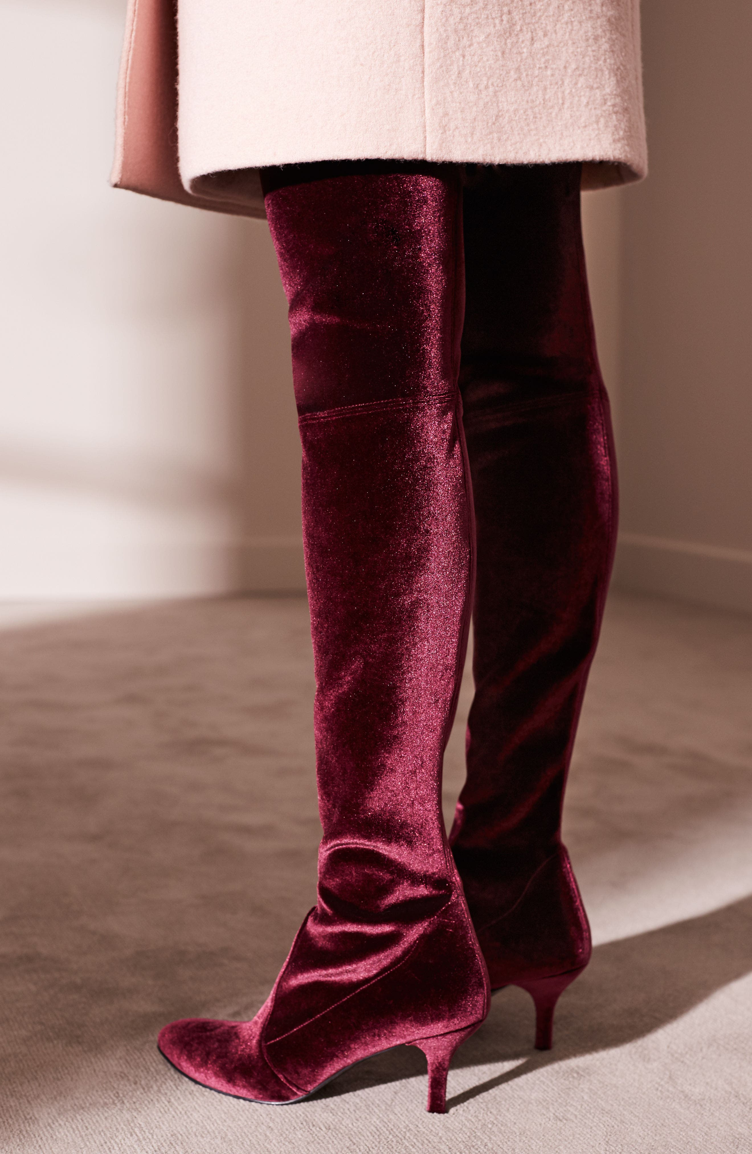 Alternate Image 8  - Stuart Weitzman Tiemodel Over the Knee Stretch Boot (Women)