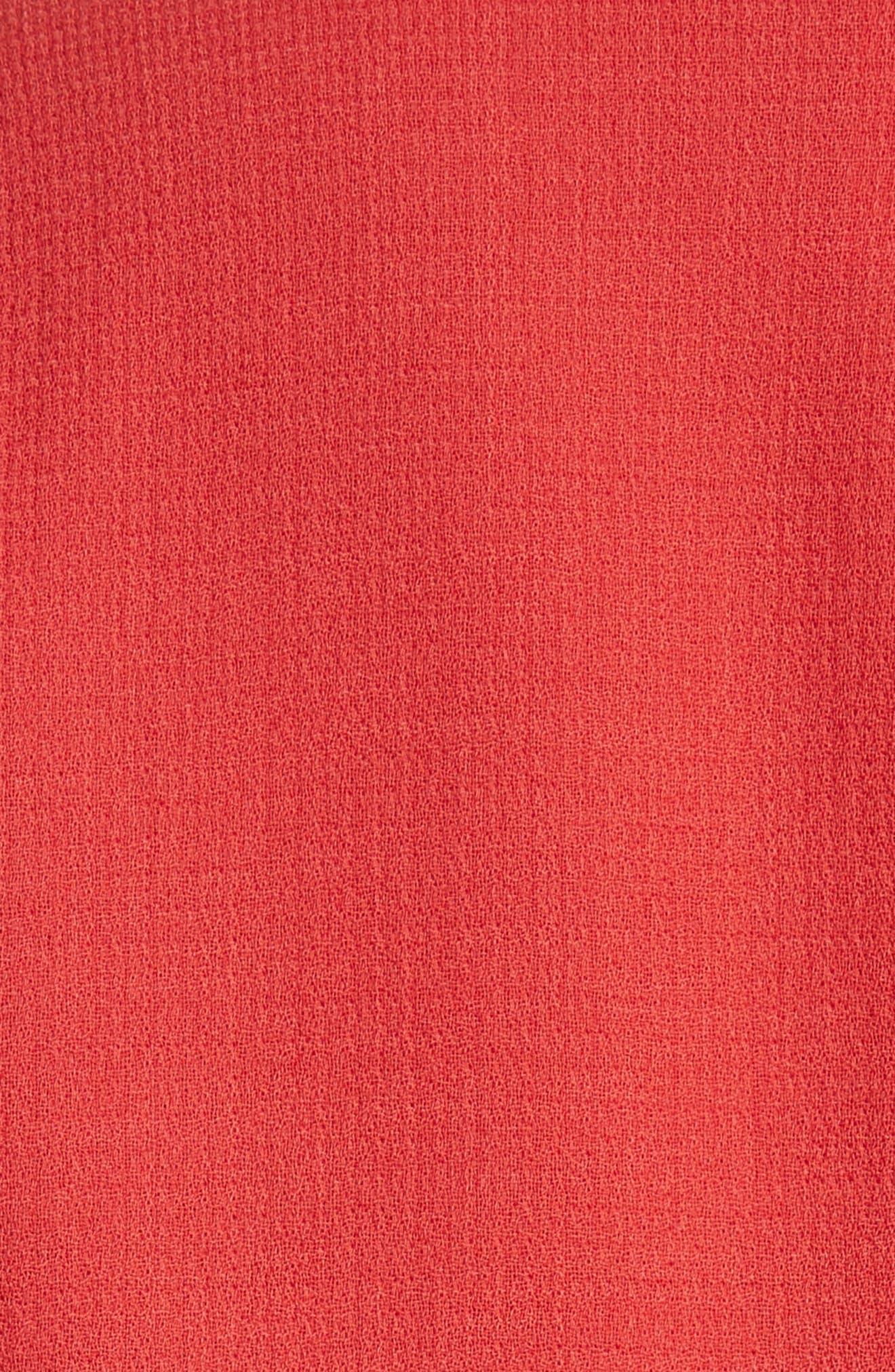 Carmelle Nouveau Crepe Jacket,                             Alternate thumbnail 7, color,                             Persimmon