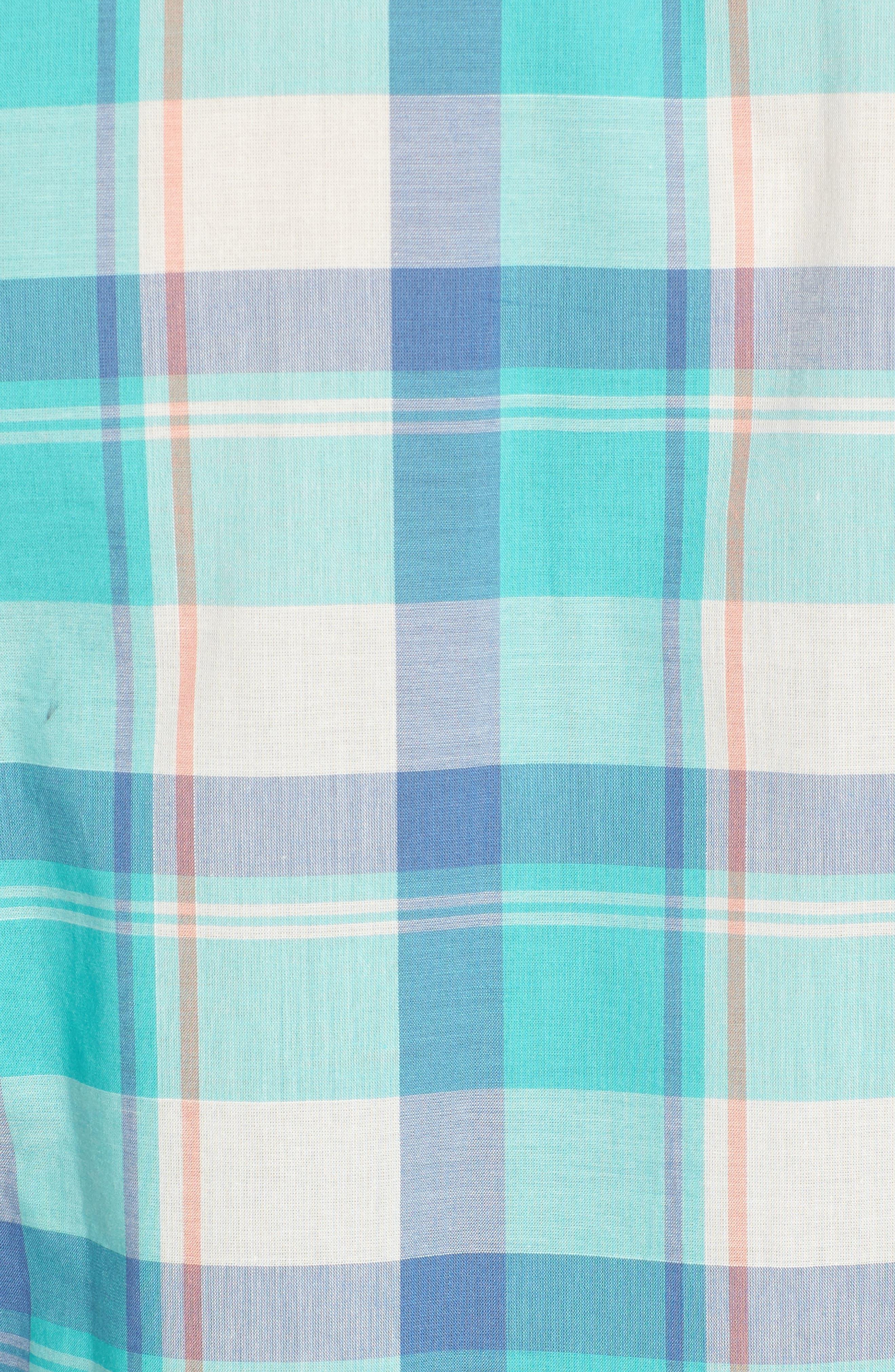 Alternate Image 5  - Southern Tide Green Cay Plaid Sport Shirt