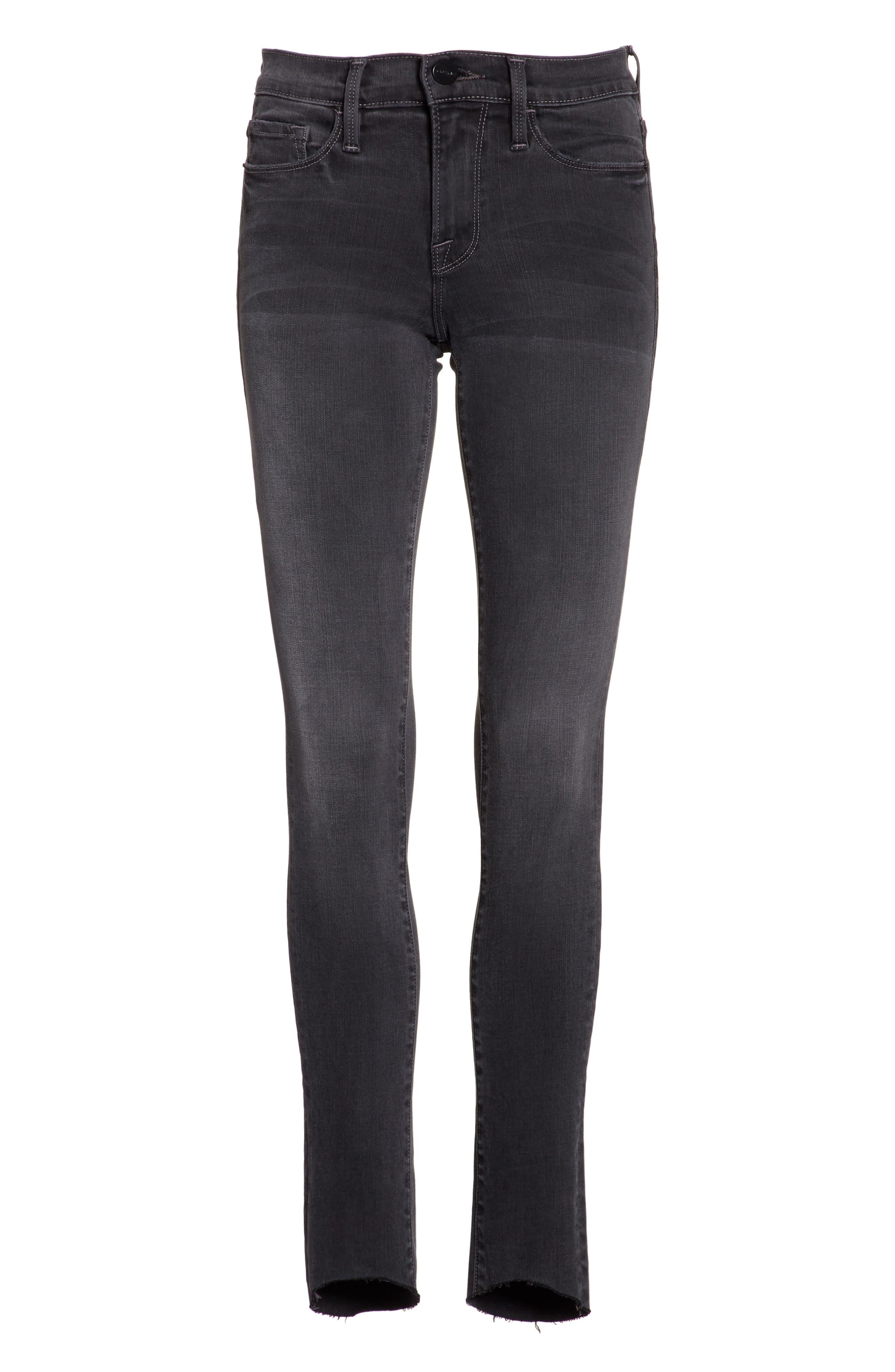 Alternate Image 6  - FRAME Le Skinny de Jeanne Ankle Jeans (Harlow)