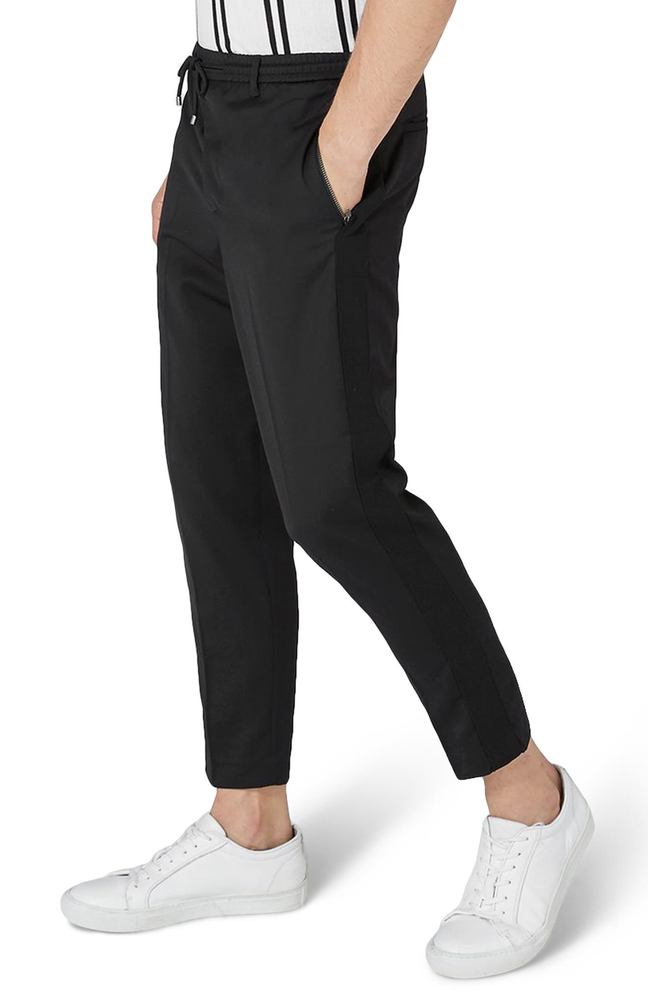 Side Zip Dress Pants,                             Main thumbnail 1, color,                             Black