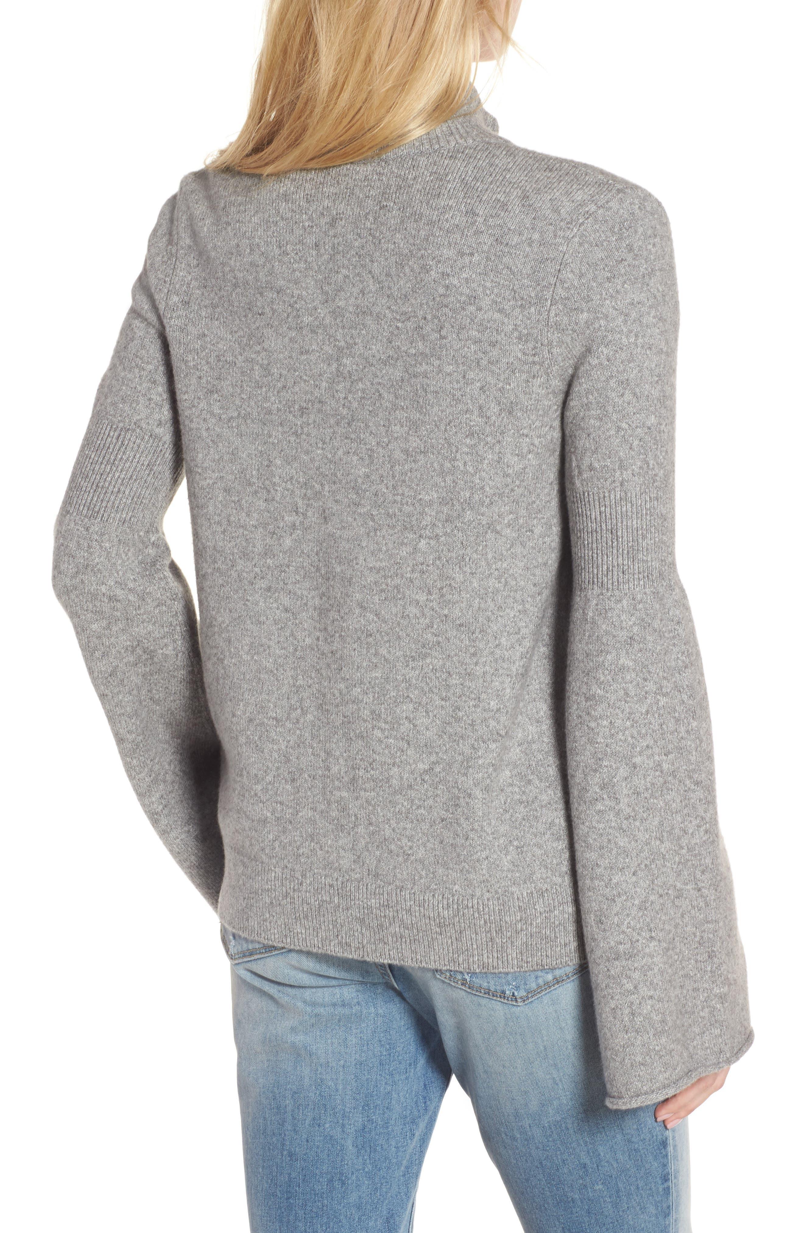 Flare Sleeve Track Jacket,                             Alternate thumbnail 2, color,                             Grey Heather