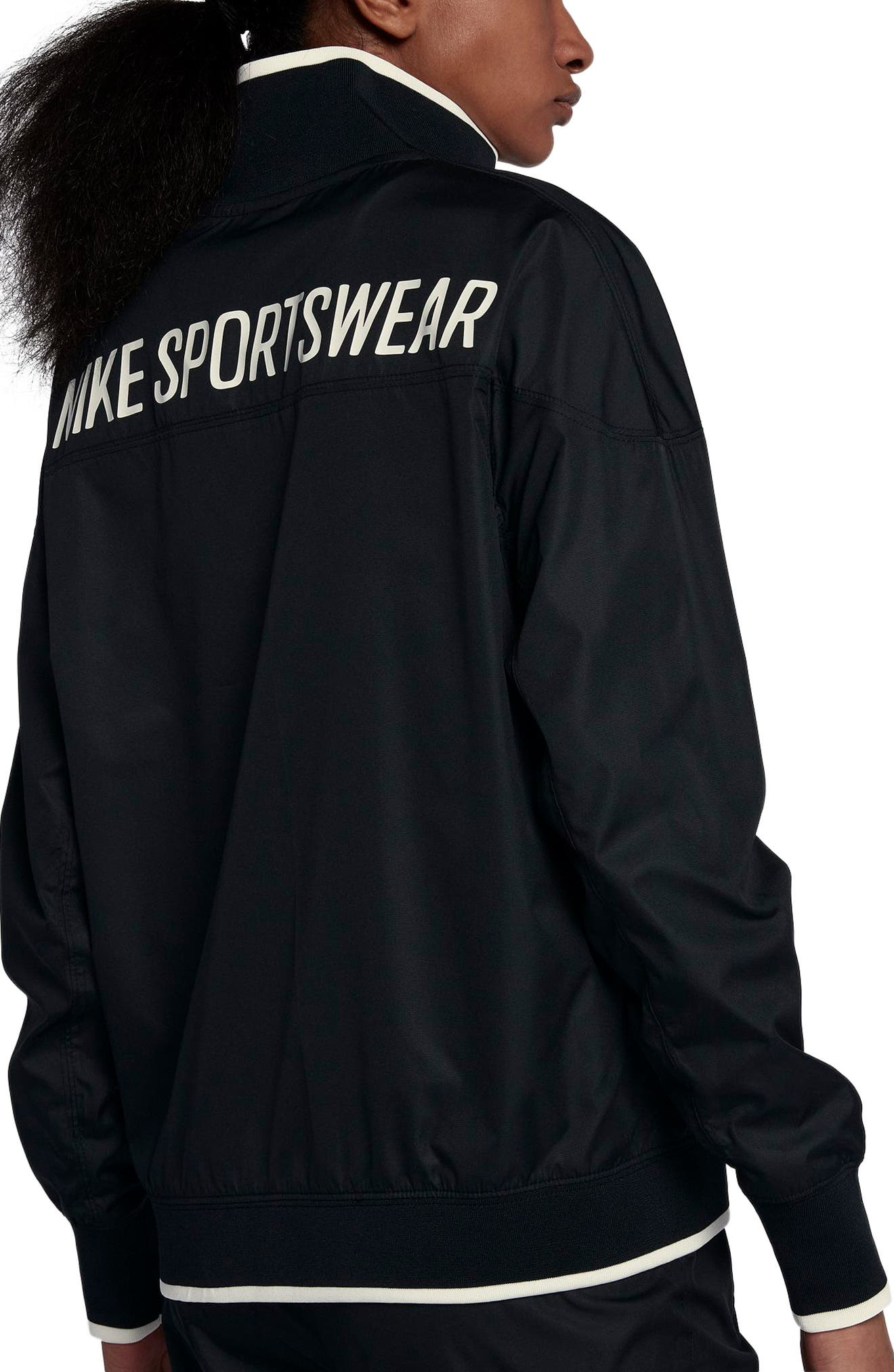 Sportswear Archive Jacket,                             Alternate thumbnail 2, color,                             Black/ Sail