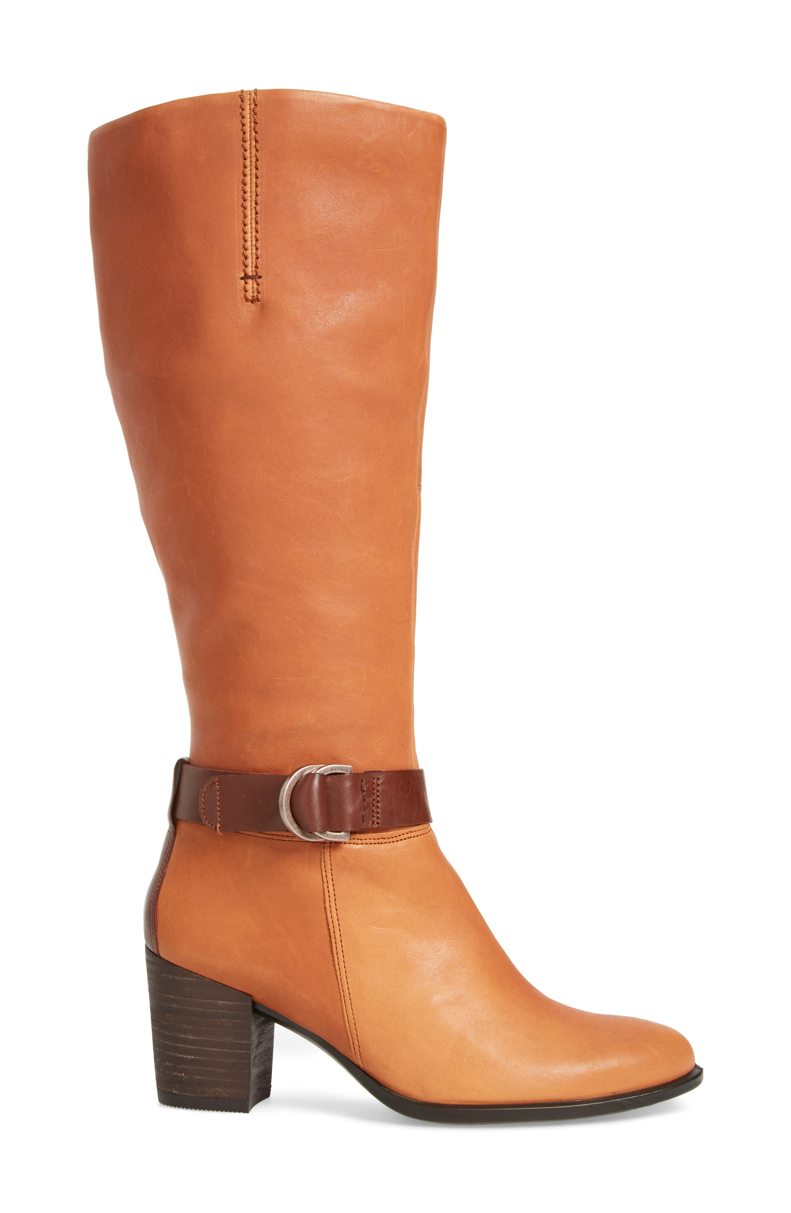 Shape 55 Tall Boot,                             Alternate thumbnail 3, color,                             Cognac Leather