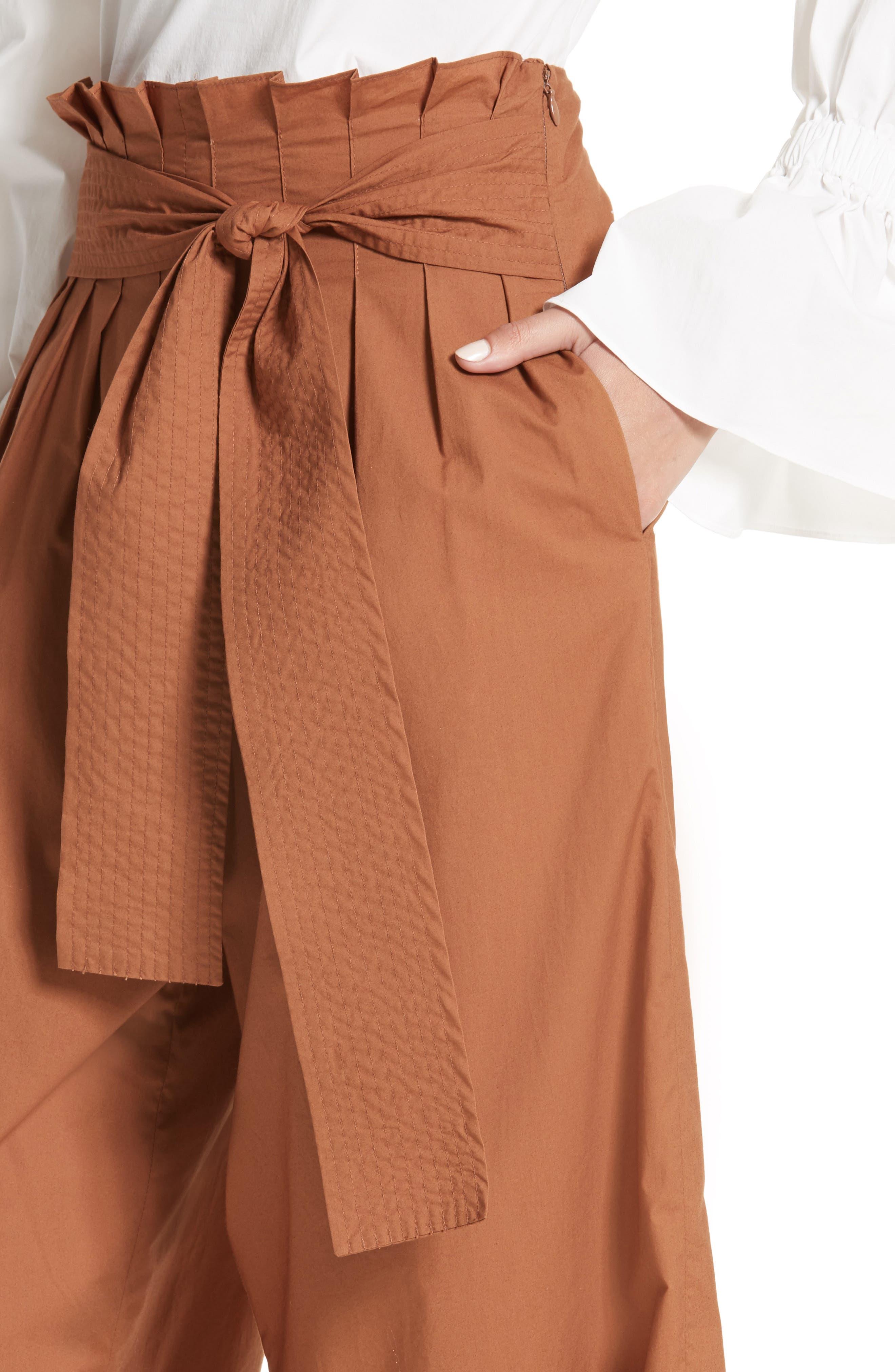 Alternate Image 4  - Rejina Pyo Wide Leg Belted Paperbag Pants