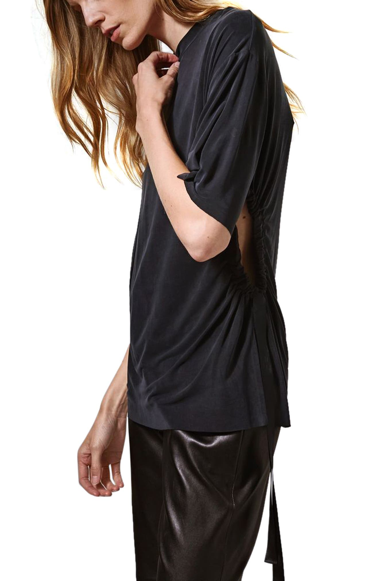 Alternate Image 2  - Topshop Boutique Ruched Cutout Tee