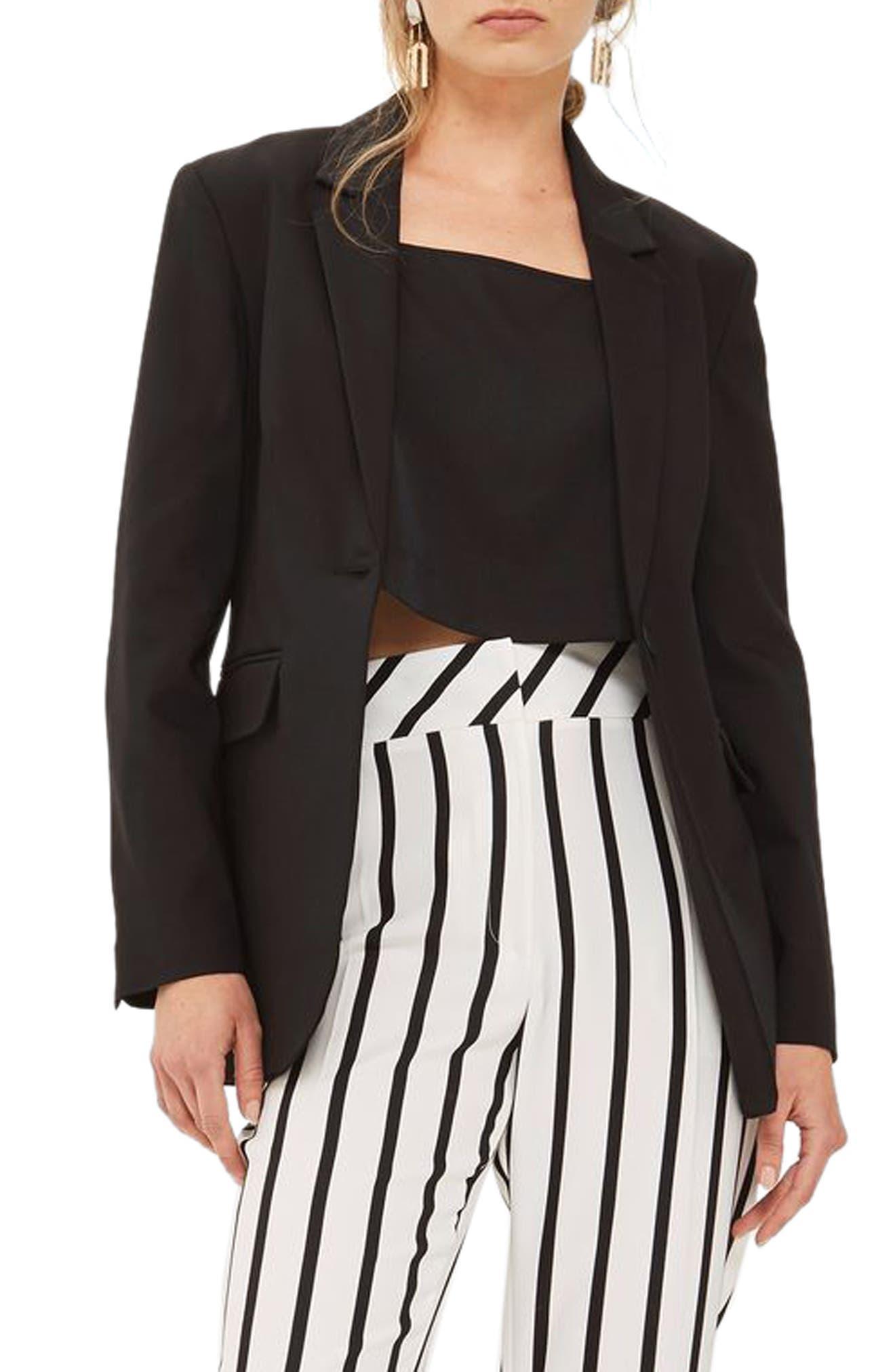 Suit Blazer,                         Main,                         color, Black