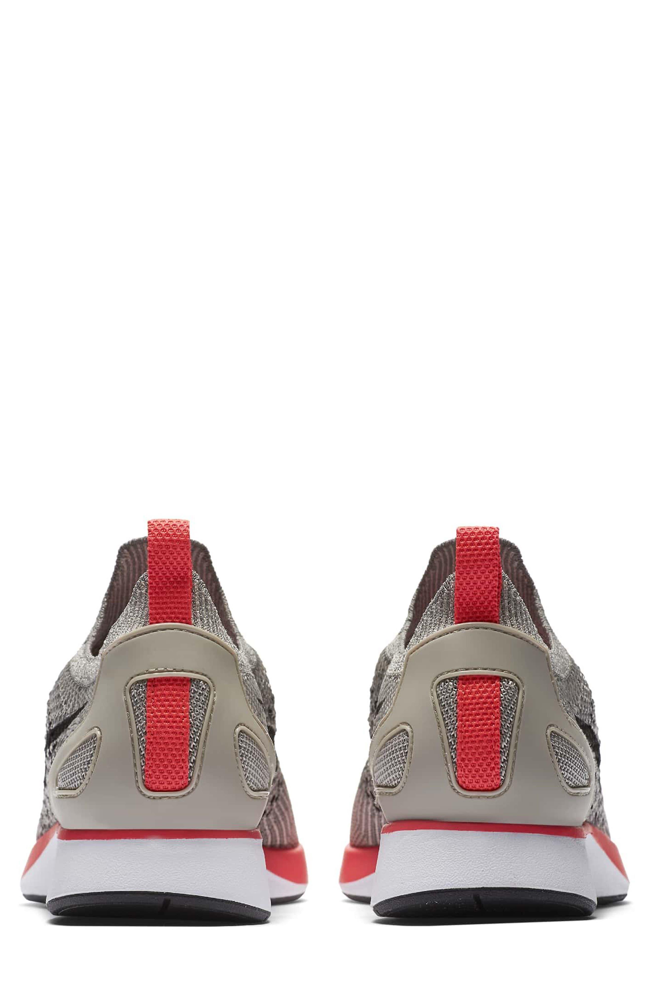 Air Zoom Mariah Flyknit Racer Sneaker,                             Alternate thumbnail 4, color,                             String/ Black/ White