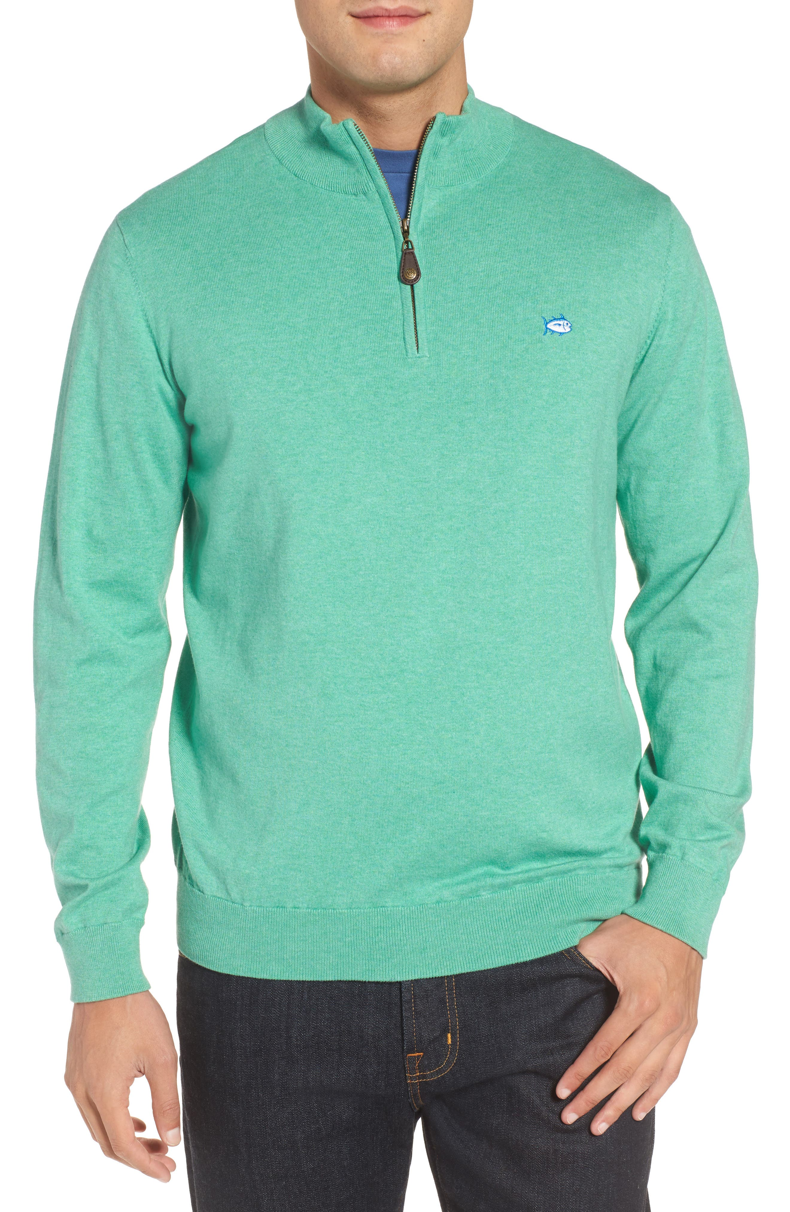 Main Image - Southern Tide Marina Cay Quarter Zip Pullover