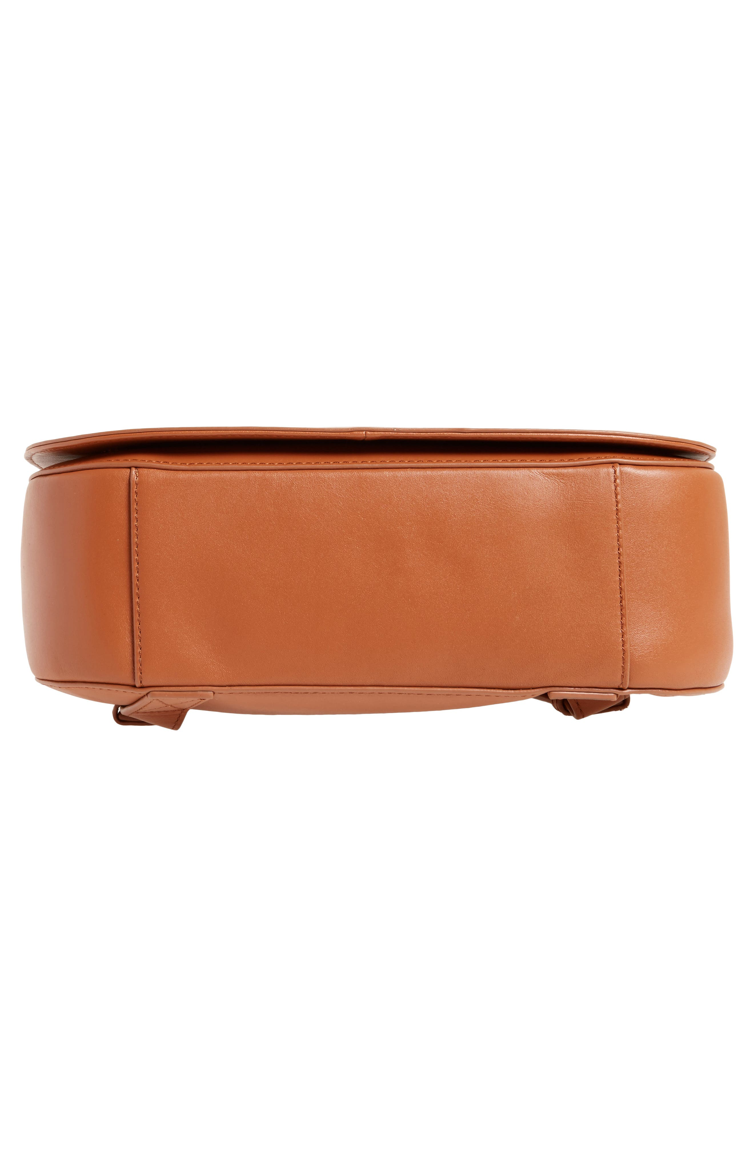 Kate Calfskin Leather Backpack,                             Alternate thumbnail 6, color,                             Saddle