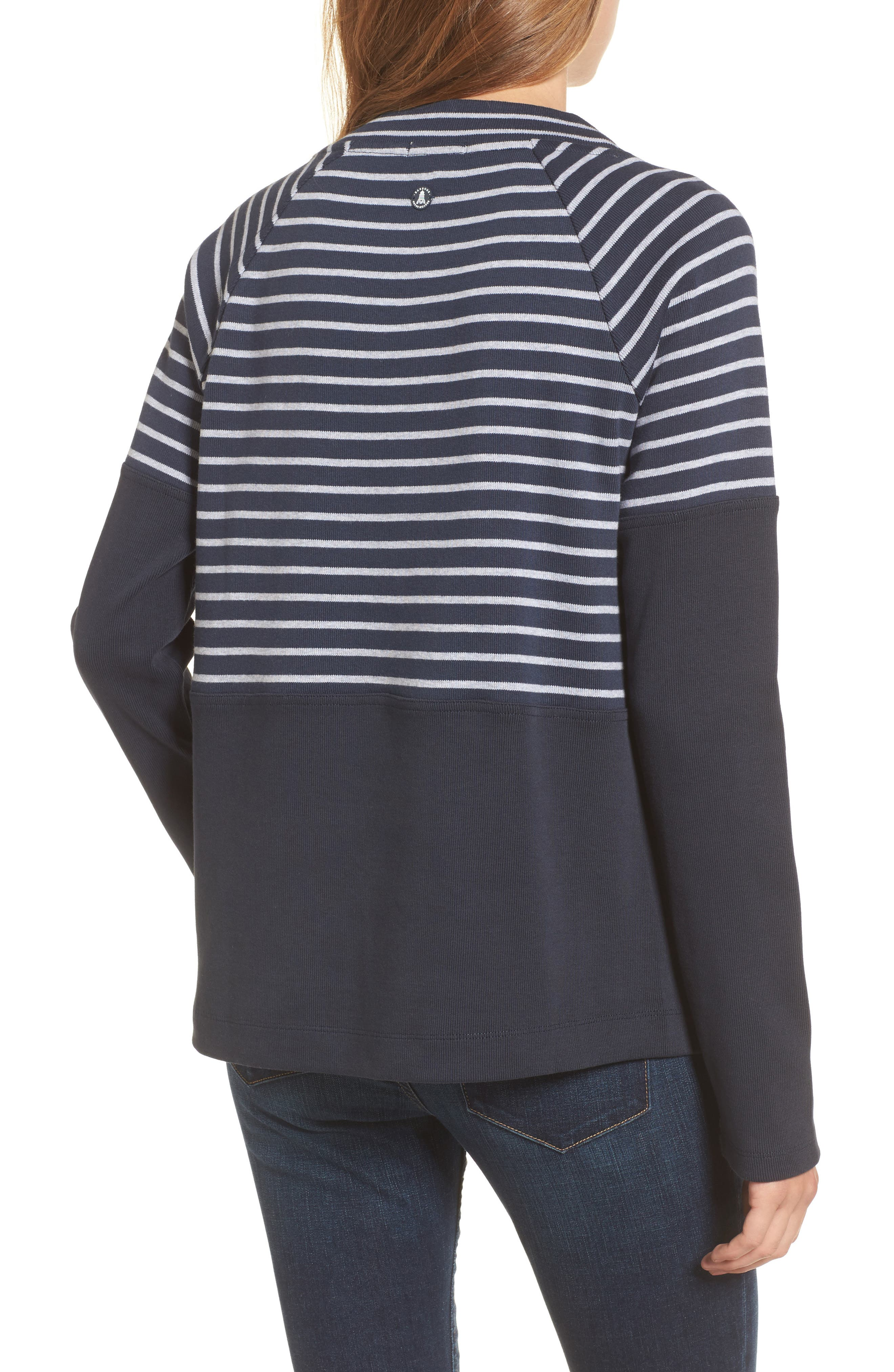 Seaburn Stripe Sweatshirt,                             Alternate thumbnail 2, color,                             Navy/ Grey