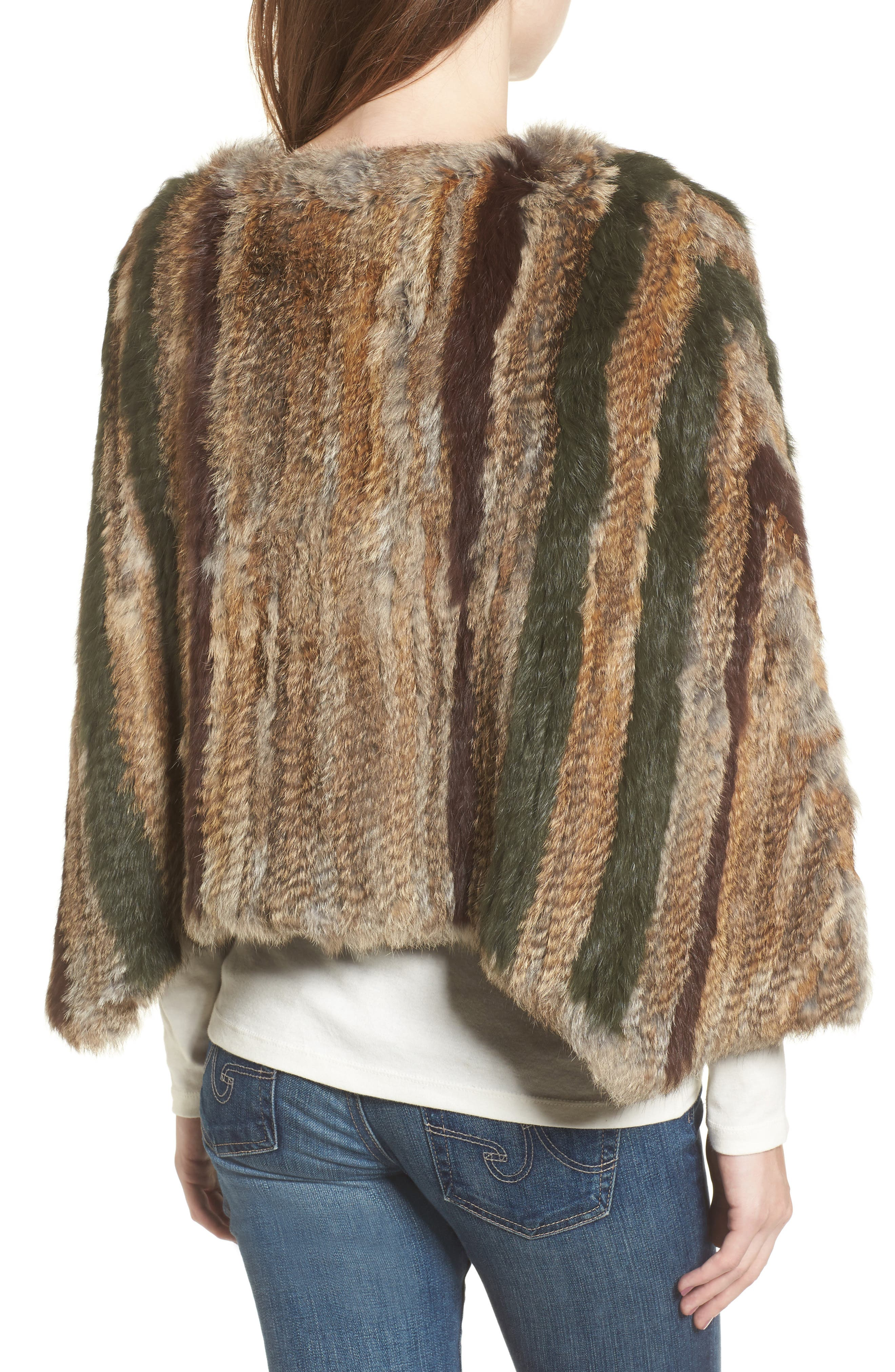 Alternate Image 2  - BNCI Nomad Genuine Rabbit Fur Pullover