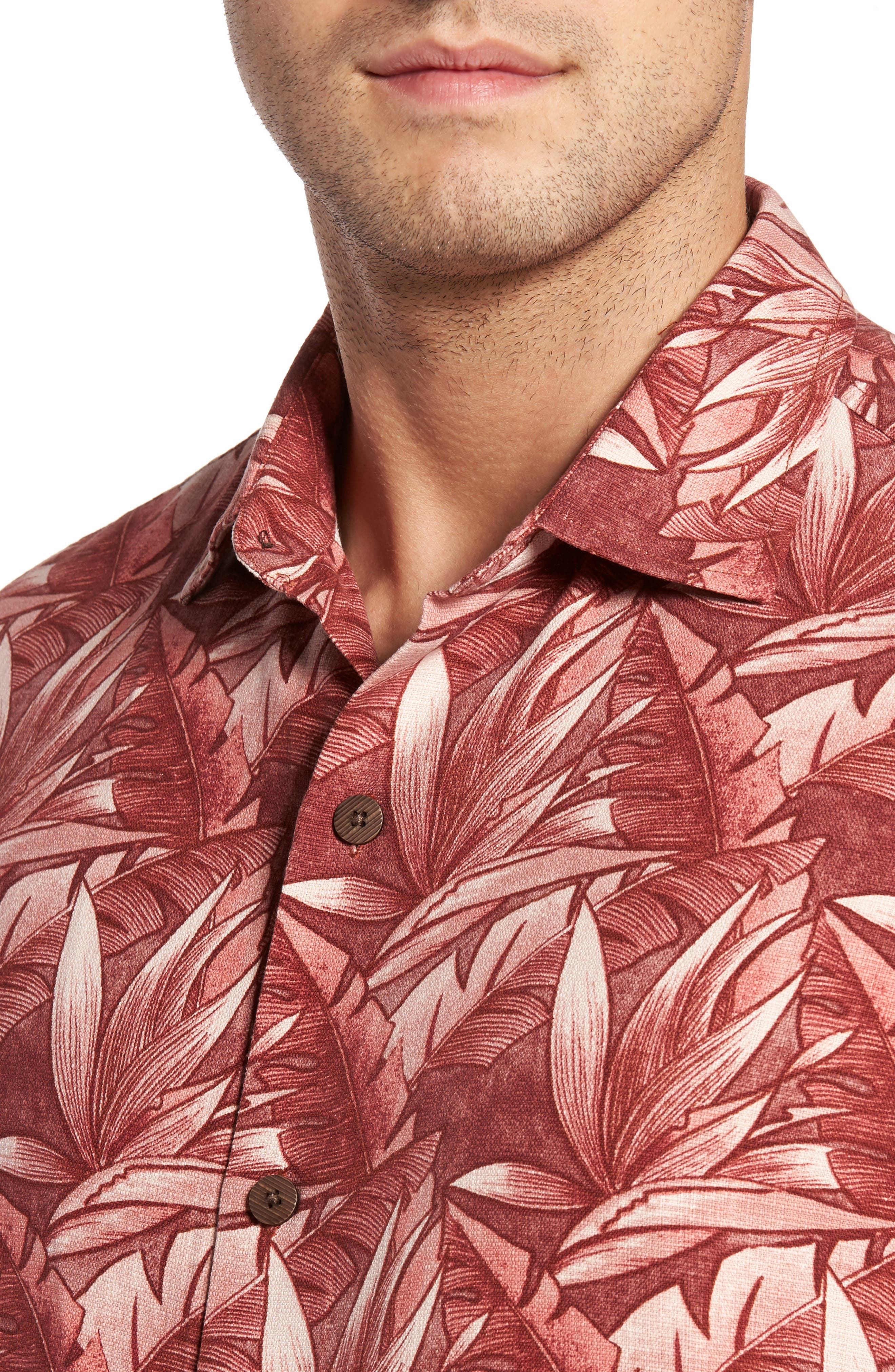 Alternate Image 4  - Tommy Bahama Jema Fronds Silk Camp Shirt